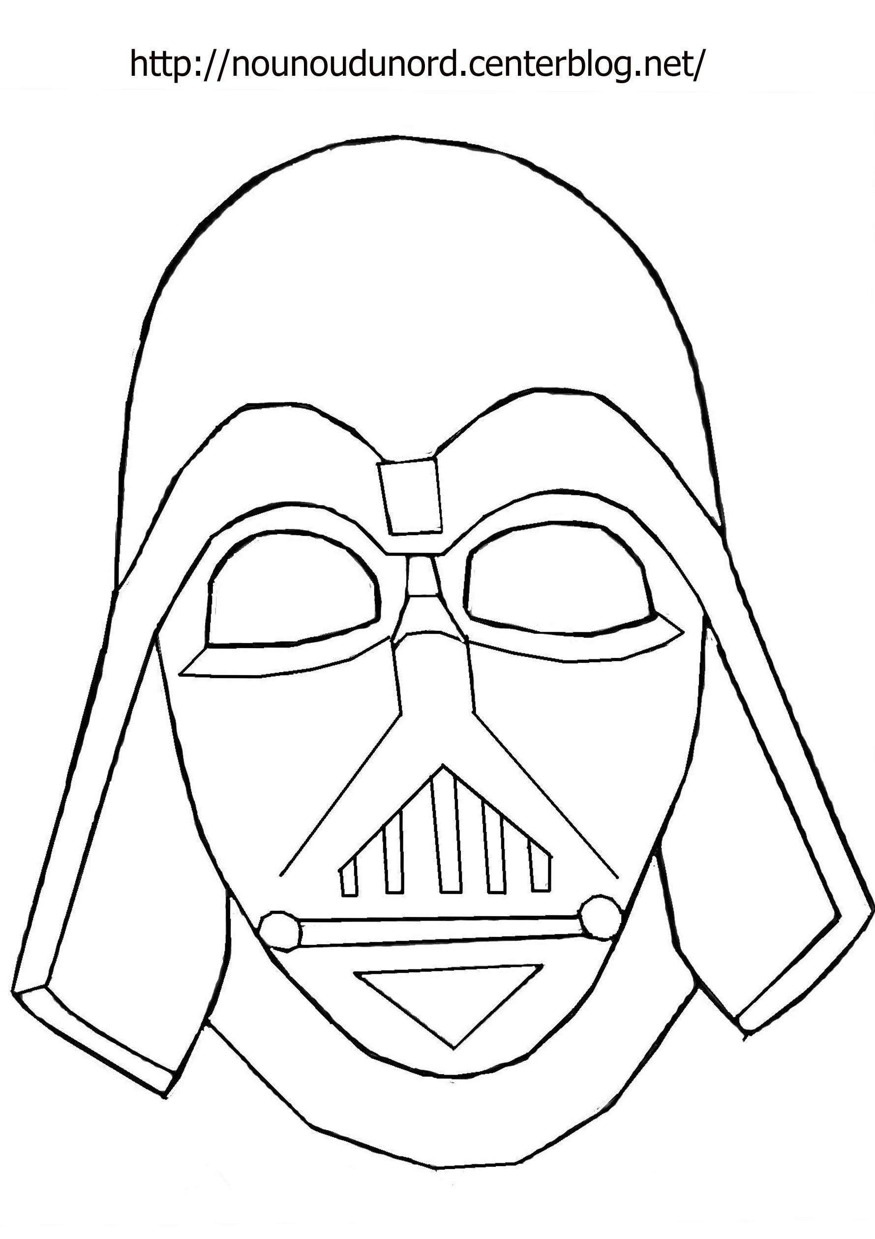 Masque Dark Vador à Imprimer