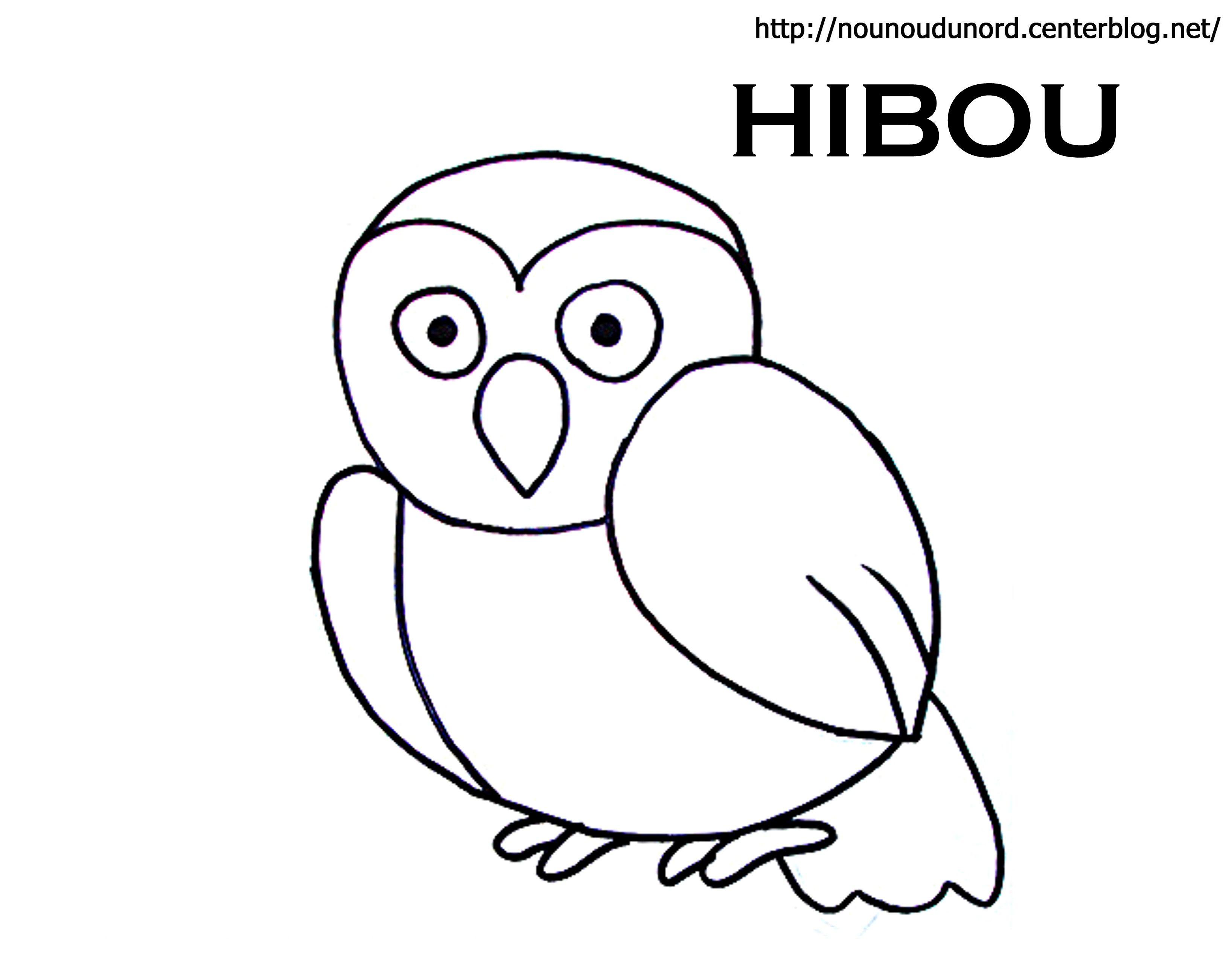 Coloriage Chouette Et Hibou