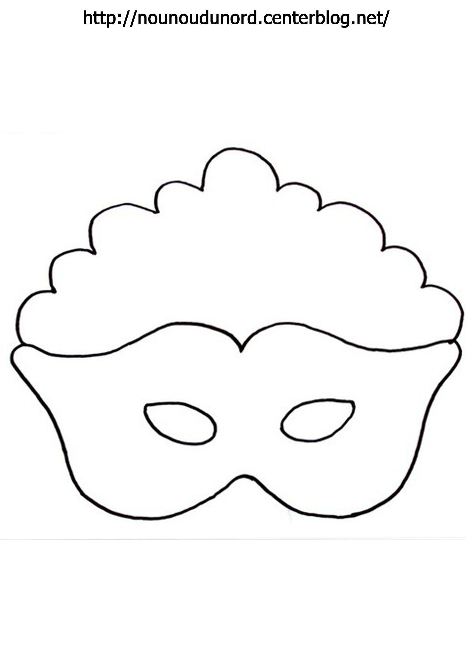 Masque princesse imprimer - Masque de chat a colorier ...