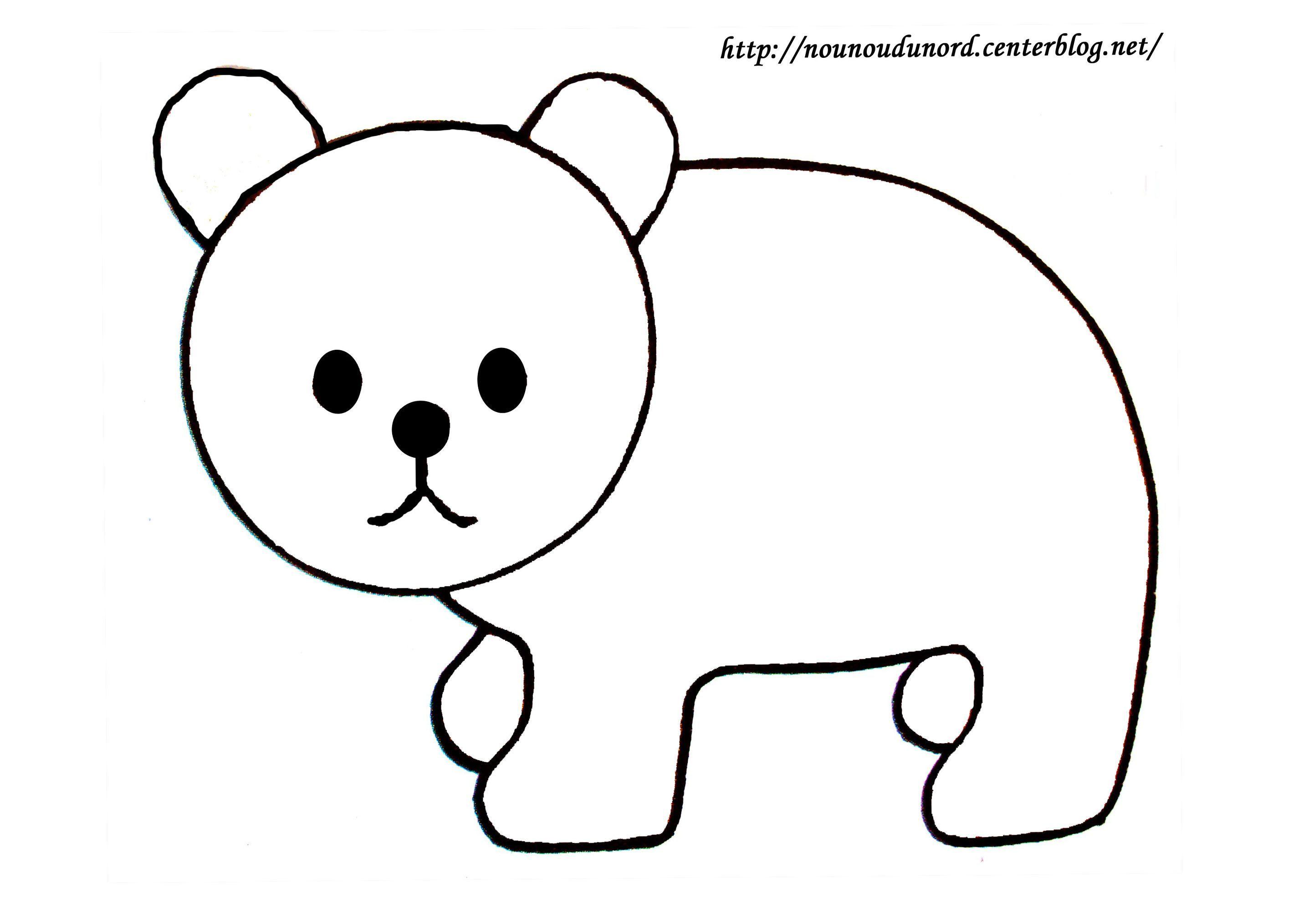 Coloriage animaux de la foret - Coloriage de ours ...