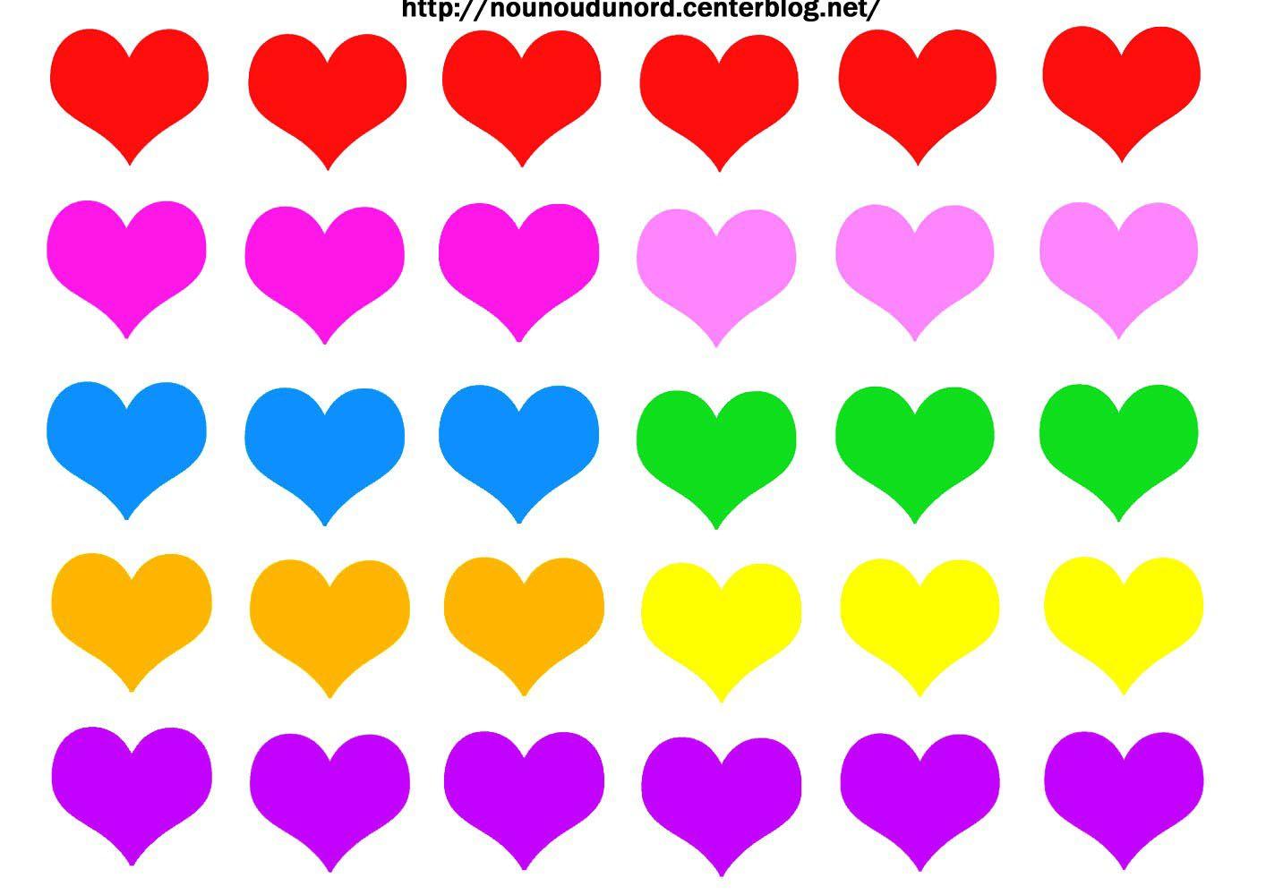 Gommettes coeurs imprimer - Coeur a imprimer gratuitement ...