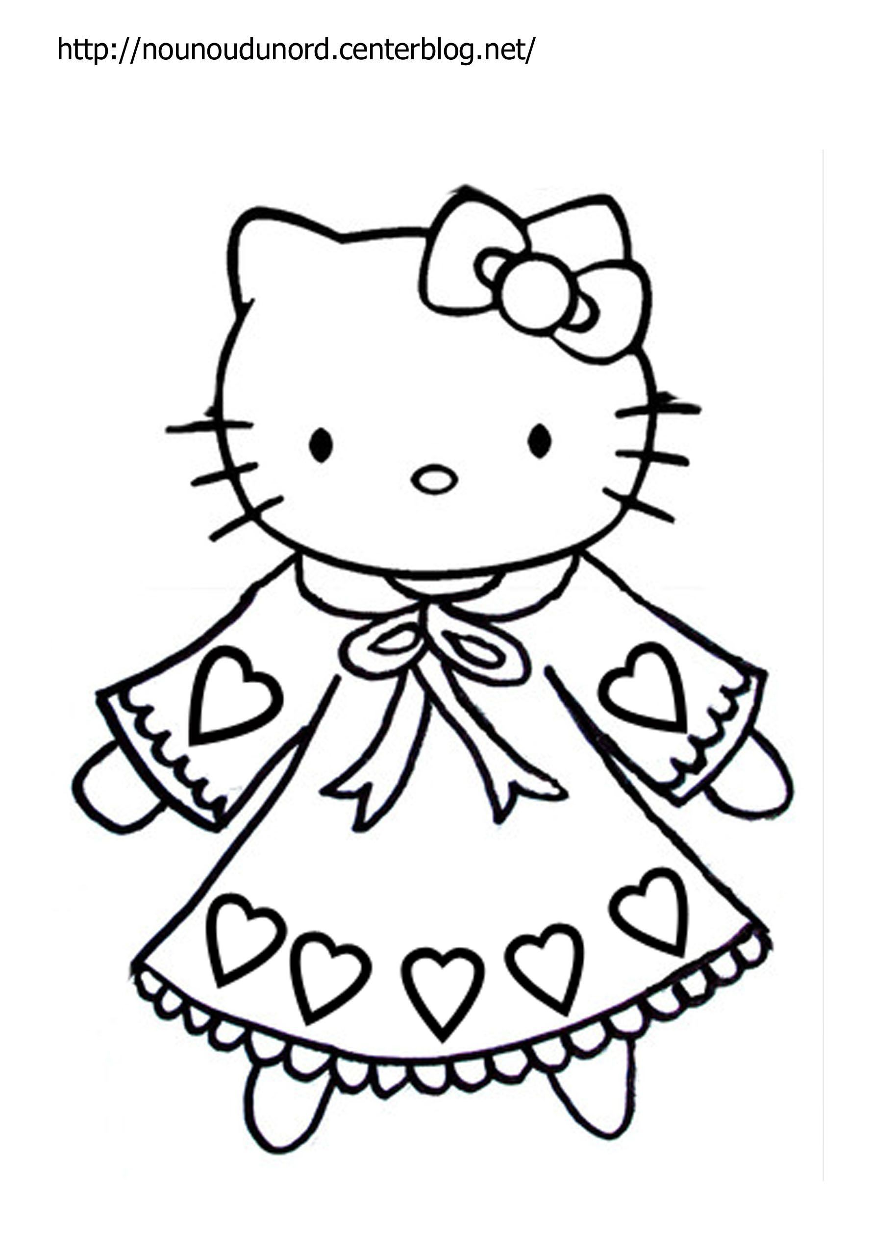 Coloriage hello kitty a imprimer - Hello kitty jeux coloriage ...