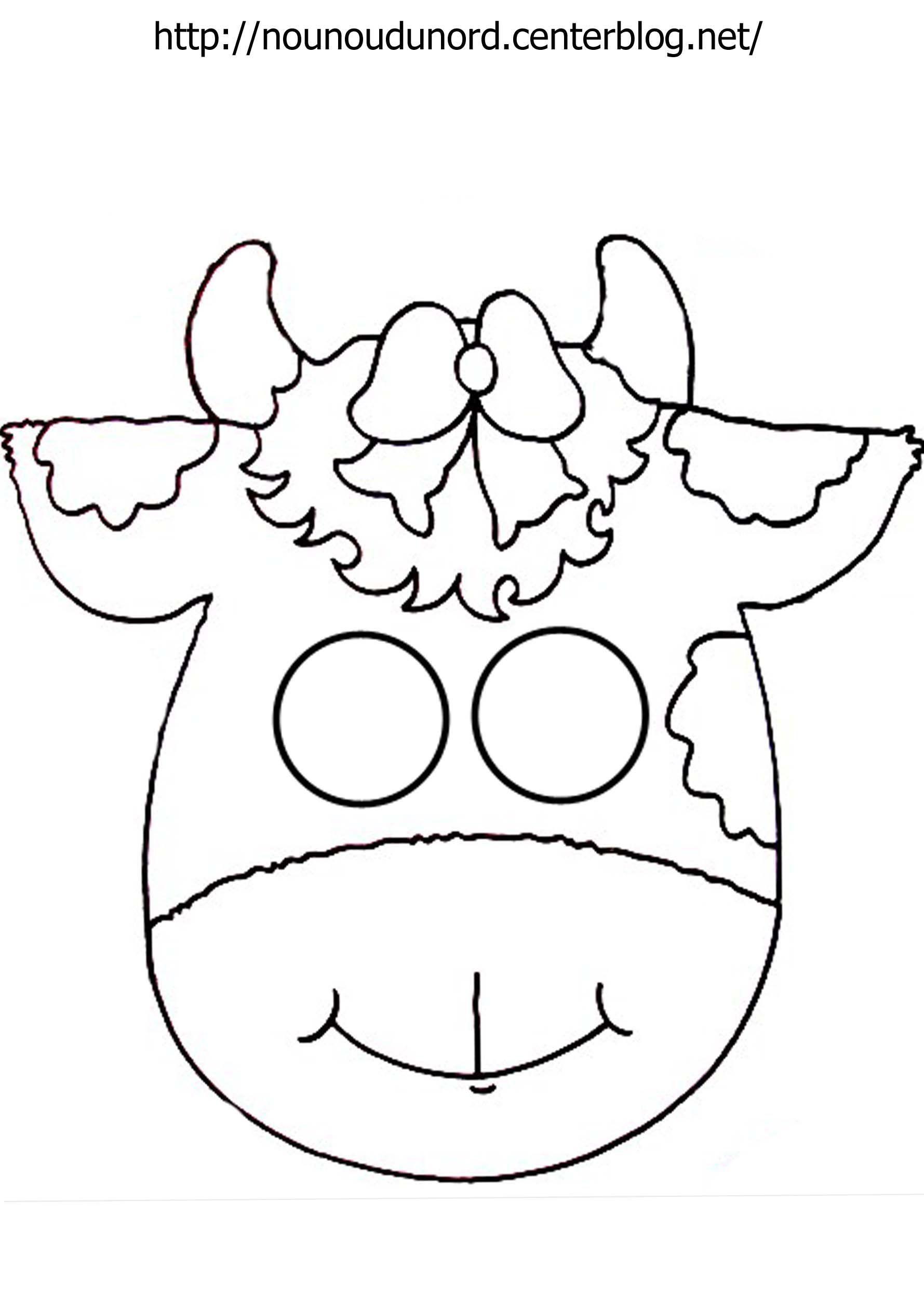 Masque vache imprimer - Vache a imprimer ...