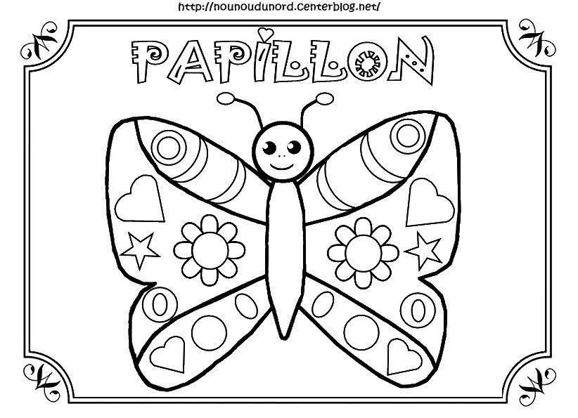 Coloriage papillon - Coloriage de papillon ...
