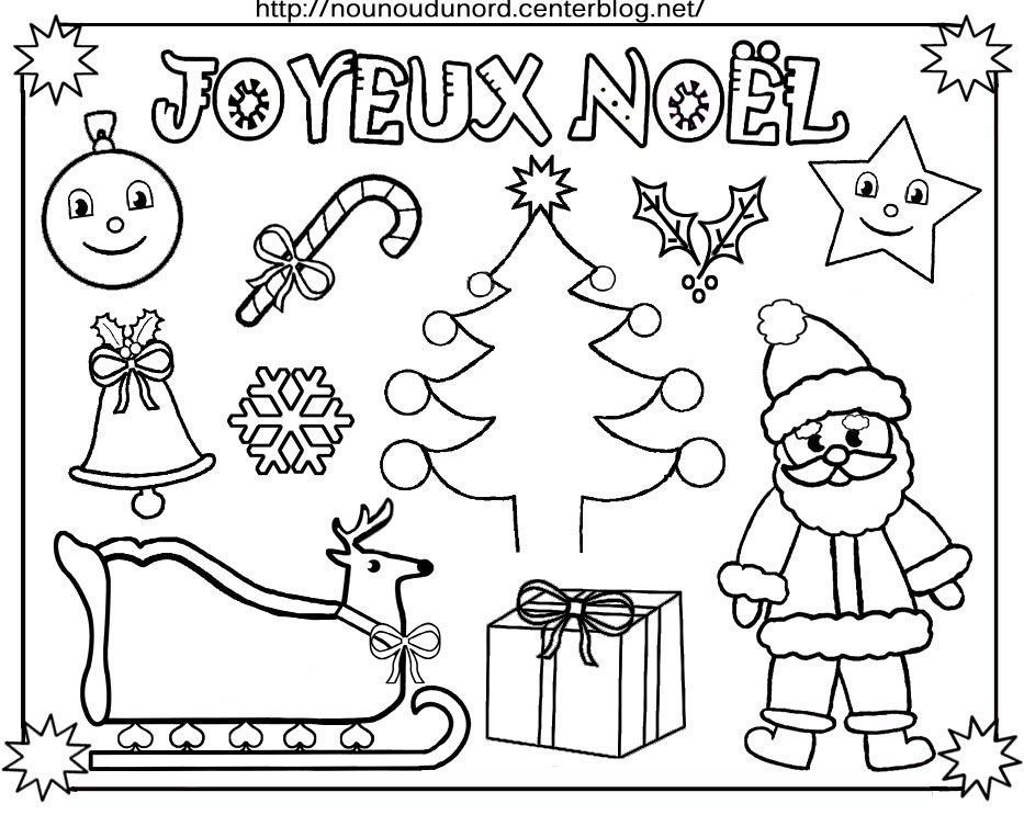 Coloriage tableau de no l - Coloriage village de noel ...