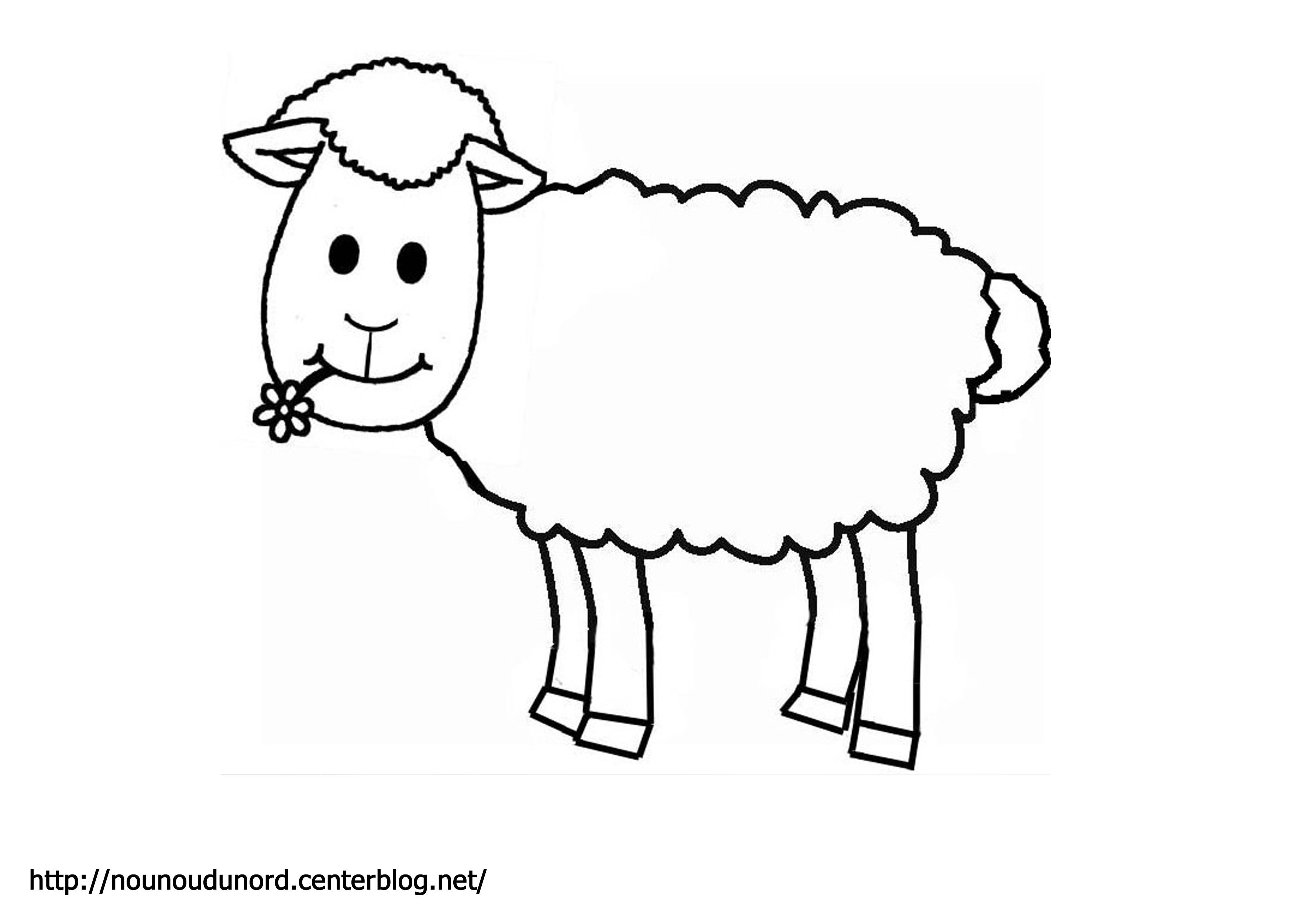 Coloriage Mouton Realise Par Nounoudunord