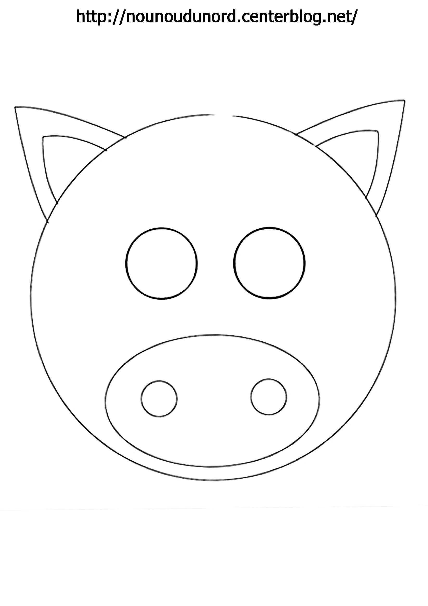 Nouveau Image A Colorier De Cochon
