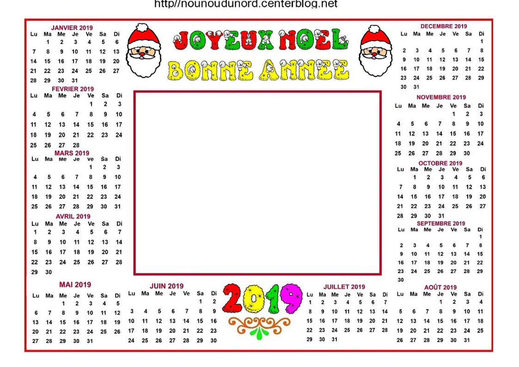 Image De Noel 2019.Calendrier Noel 2019 Pour Ajouter Des Photos