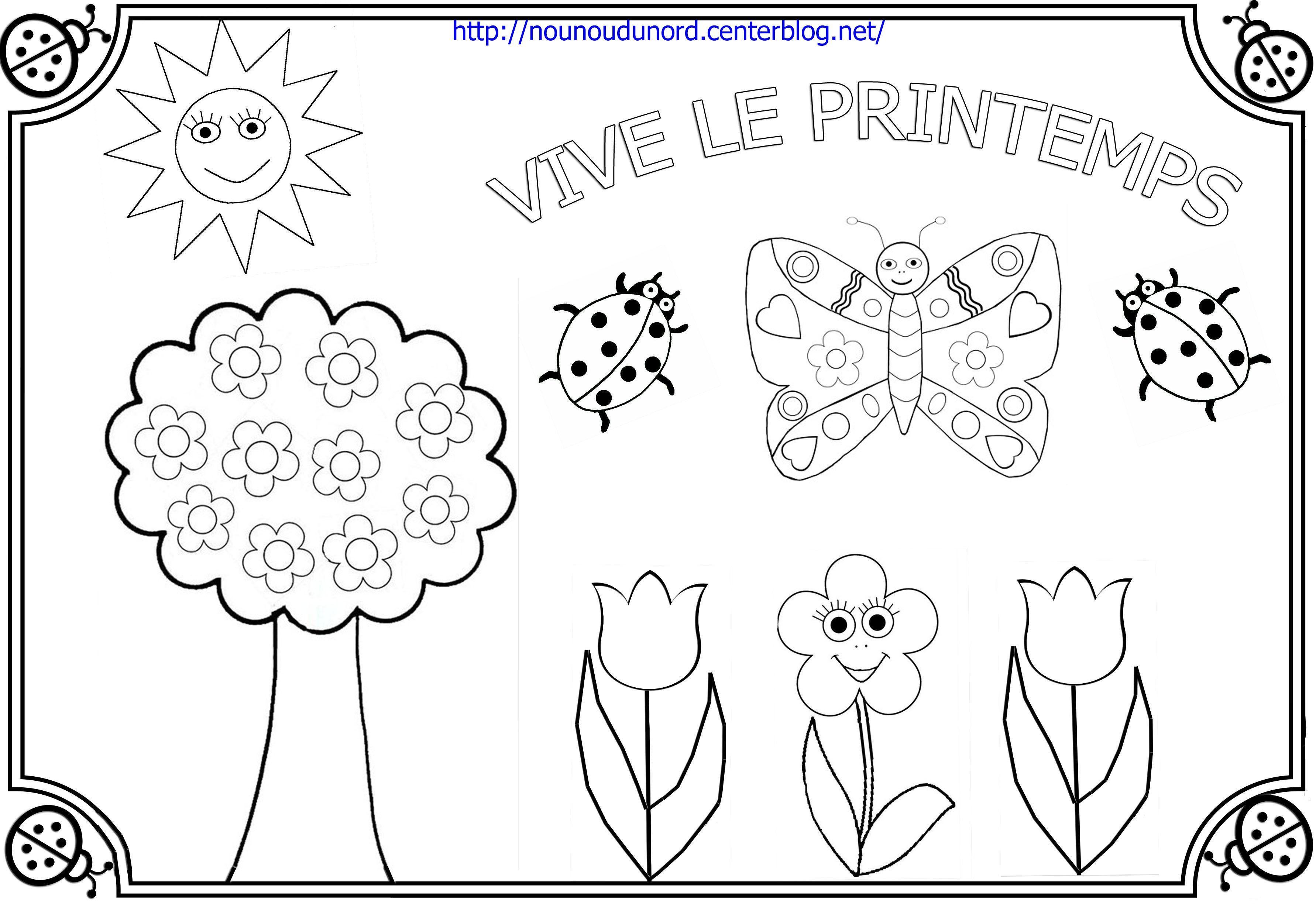 Coloriage printemps dessin par nounoudunord - Le printemps gs ...