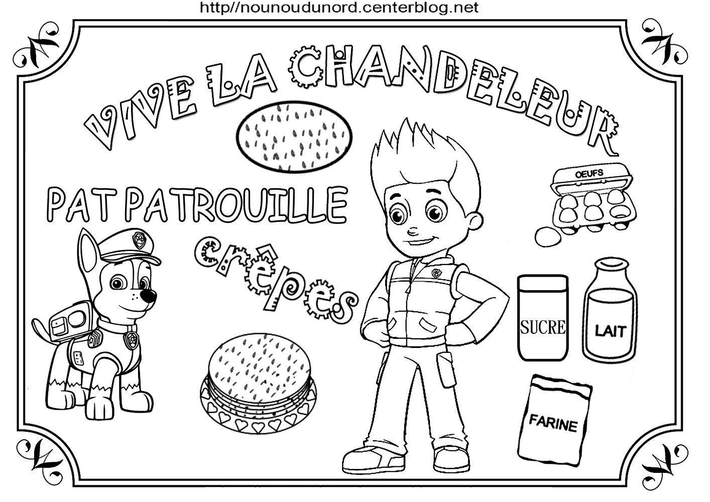 Coloriage Pat Patrouille Maternelle.Chandeleur Pat Patrouille Fait Des Crepes