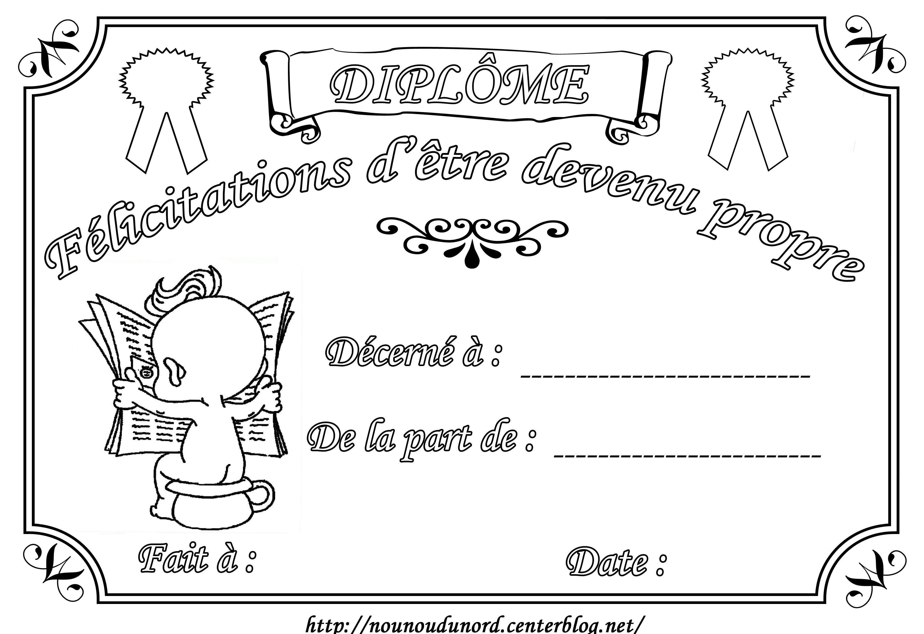 Diplome de felicitations proprete - Dessin pour les petit ...