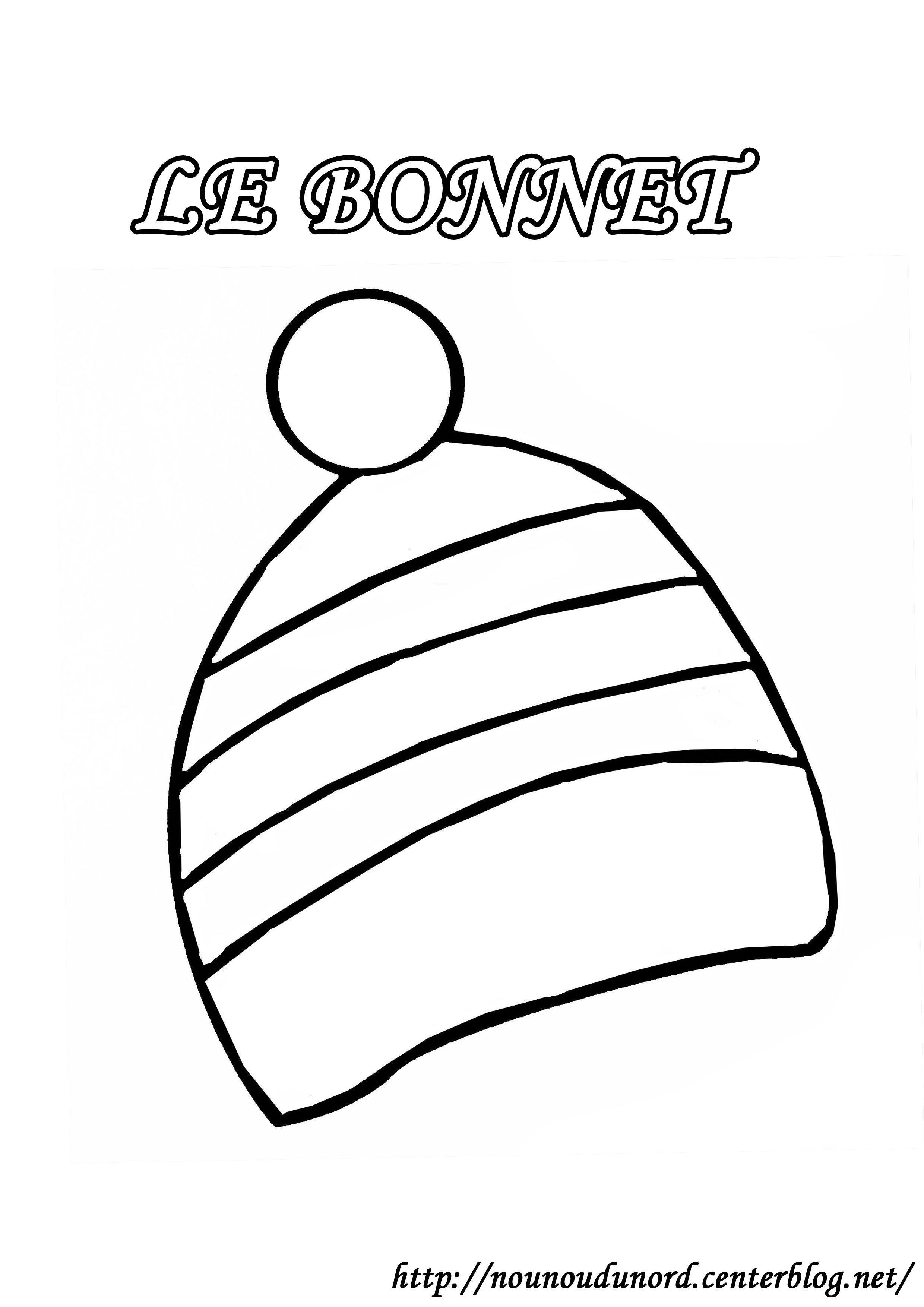 Coloriage Bonnet Dessiné Par Nounoudunord