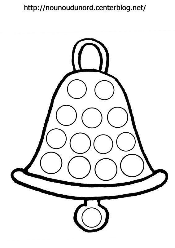 Coloriage cloche de p ques pour gommettes par nounoudunord - Cloches de paques ...