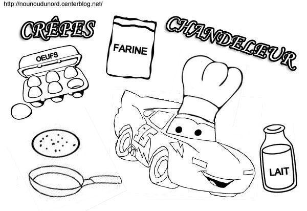 Coloriage cars pour la chandeleur - Coloriage la cars ...