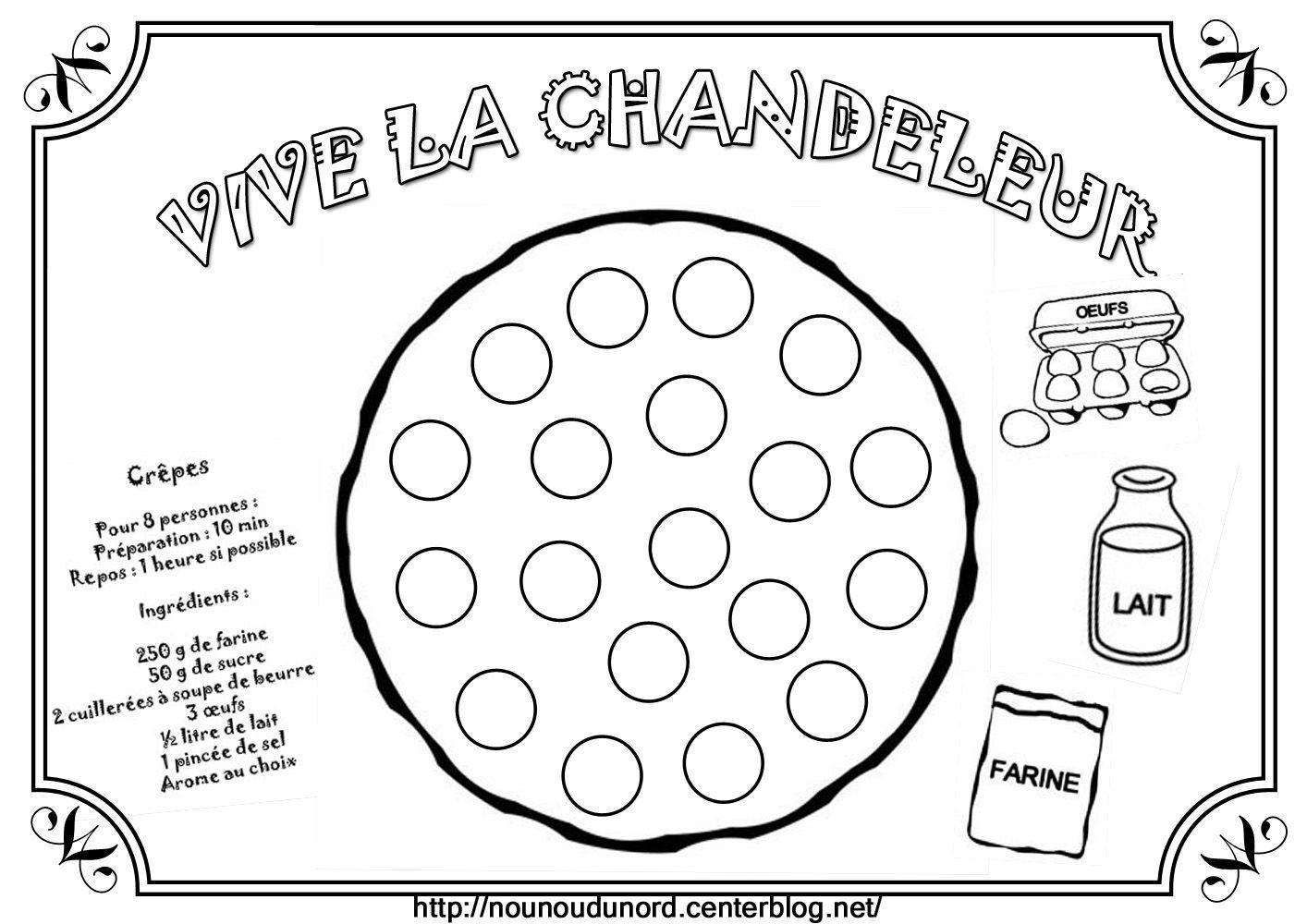 Coloriages Crepes Chandeleur