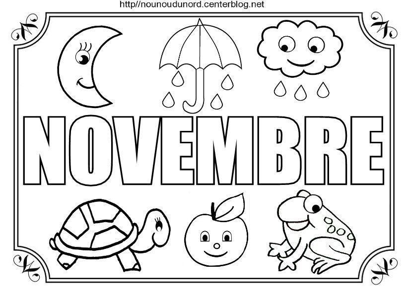 Nounoudunord bricolages avec les enfants page 3 - Coloriage novembre ...