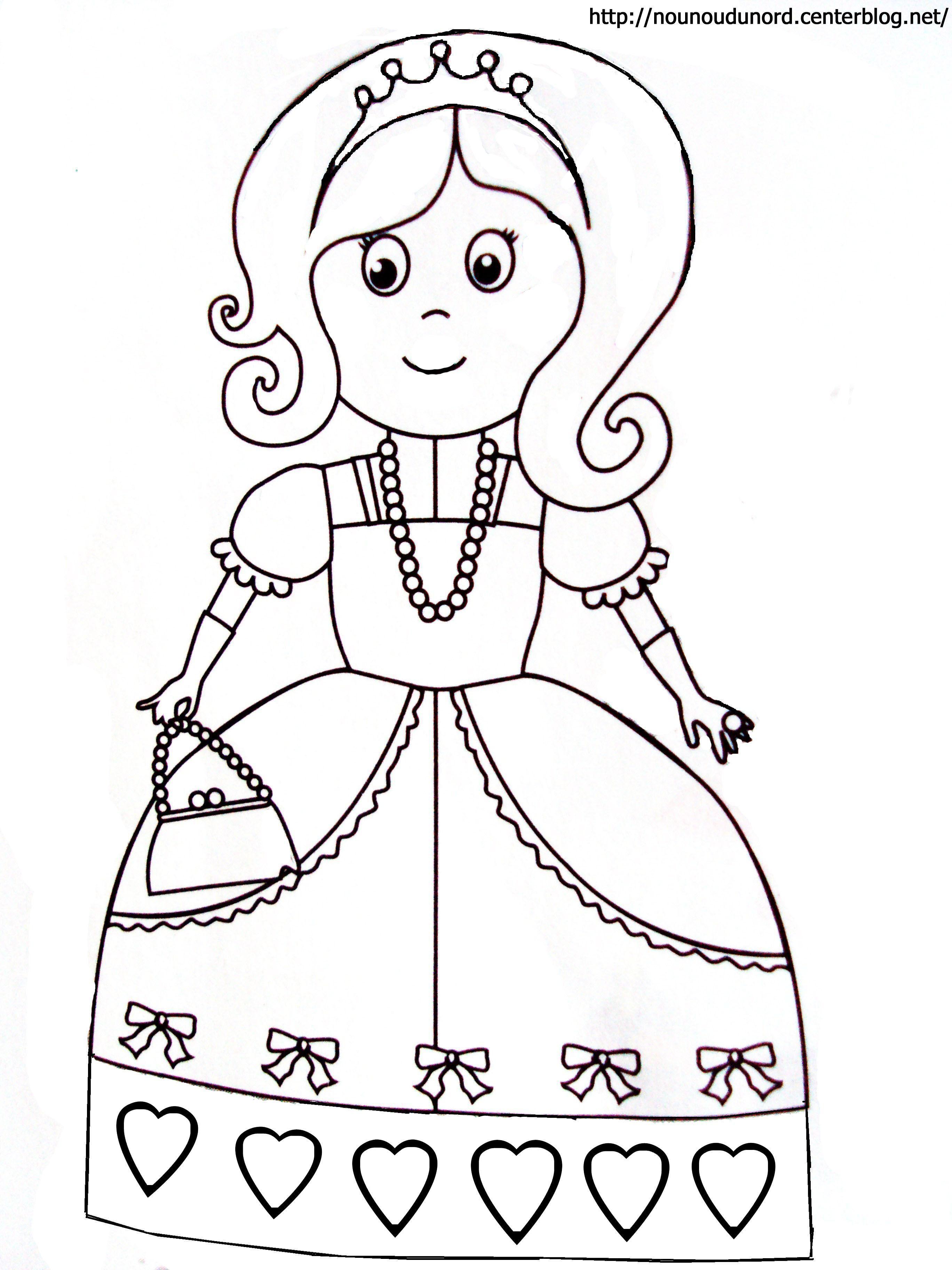 Coloriage princesse a imprimer - Dessin princesse ...