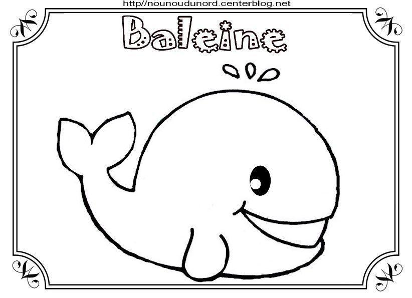 Coloriage baleine - Coloriage facile animaux ...