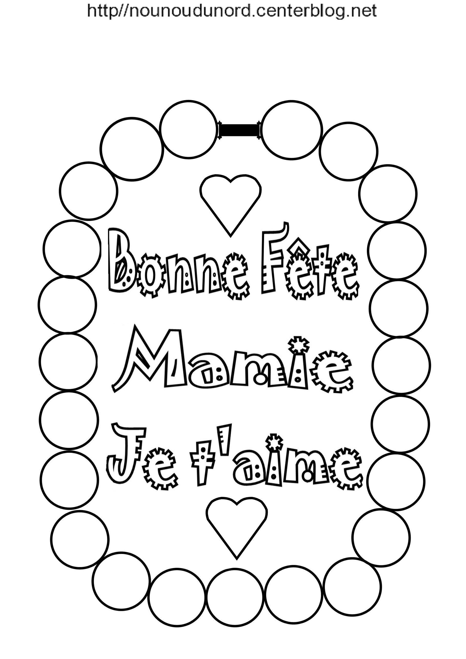Collier à Poème Bonne Fête Mamie Mémé Mamou