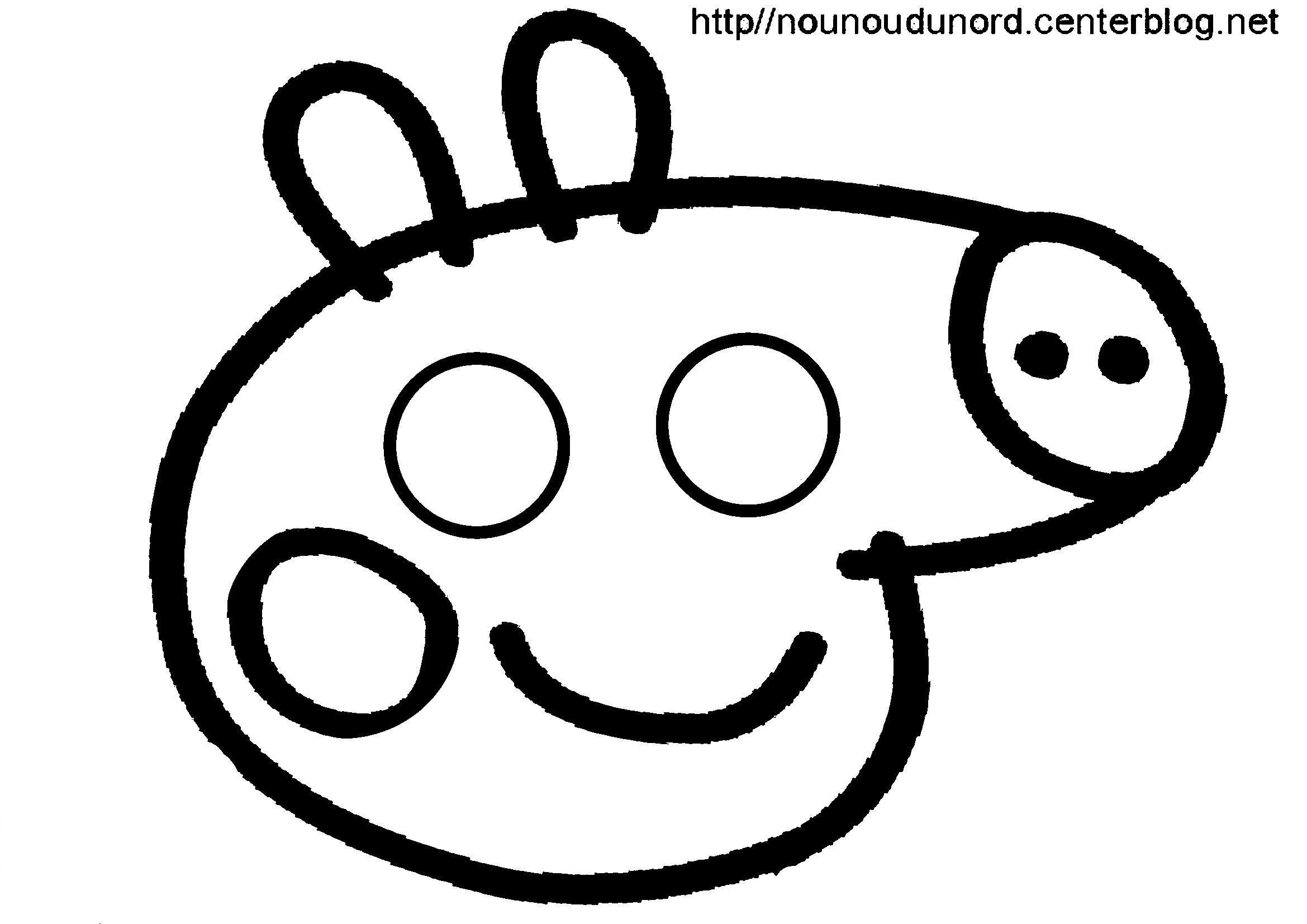 Activite masque a imprimer - Dessin a imprimer peppa pig ...