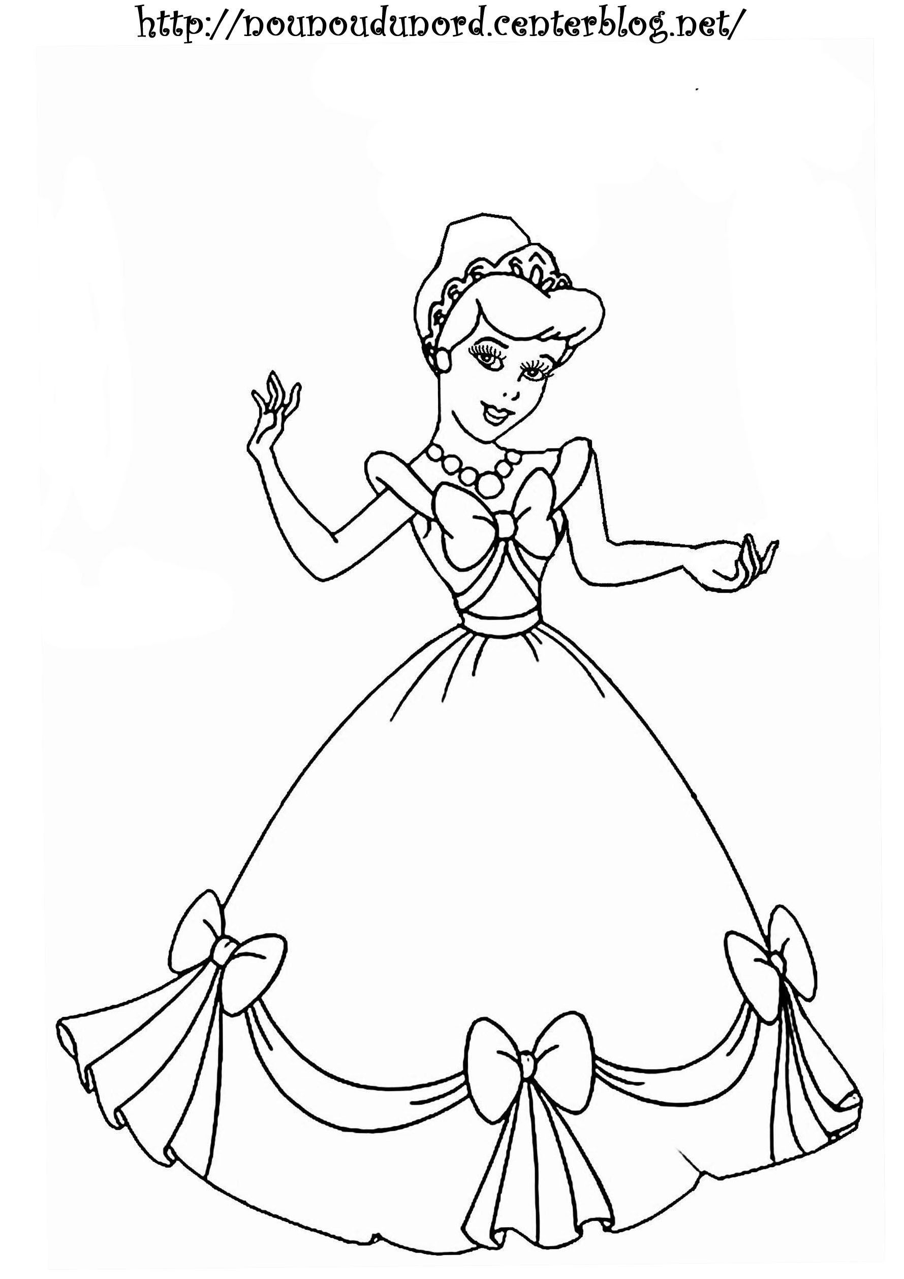 Coloriage princesse a imprimer - Coloriages princesse ...