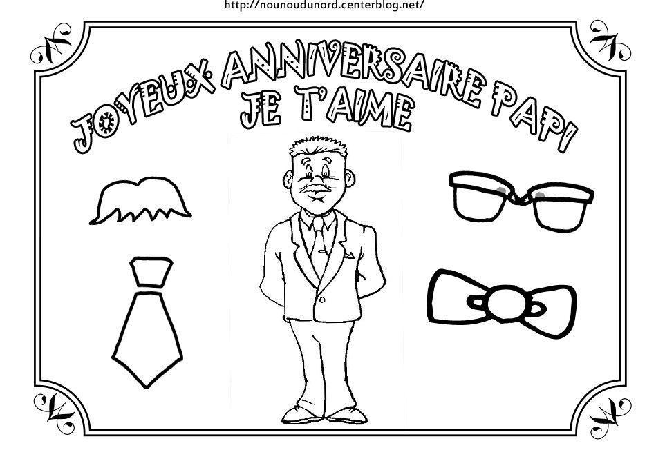 Coloriage anniversaire divers - Dessin pour anniversaire 60 ans ...