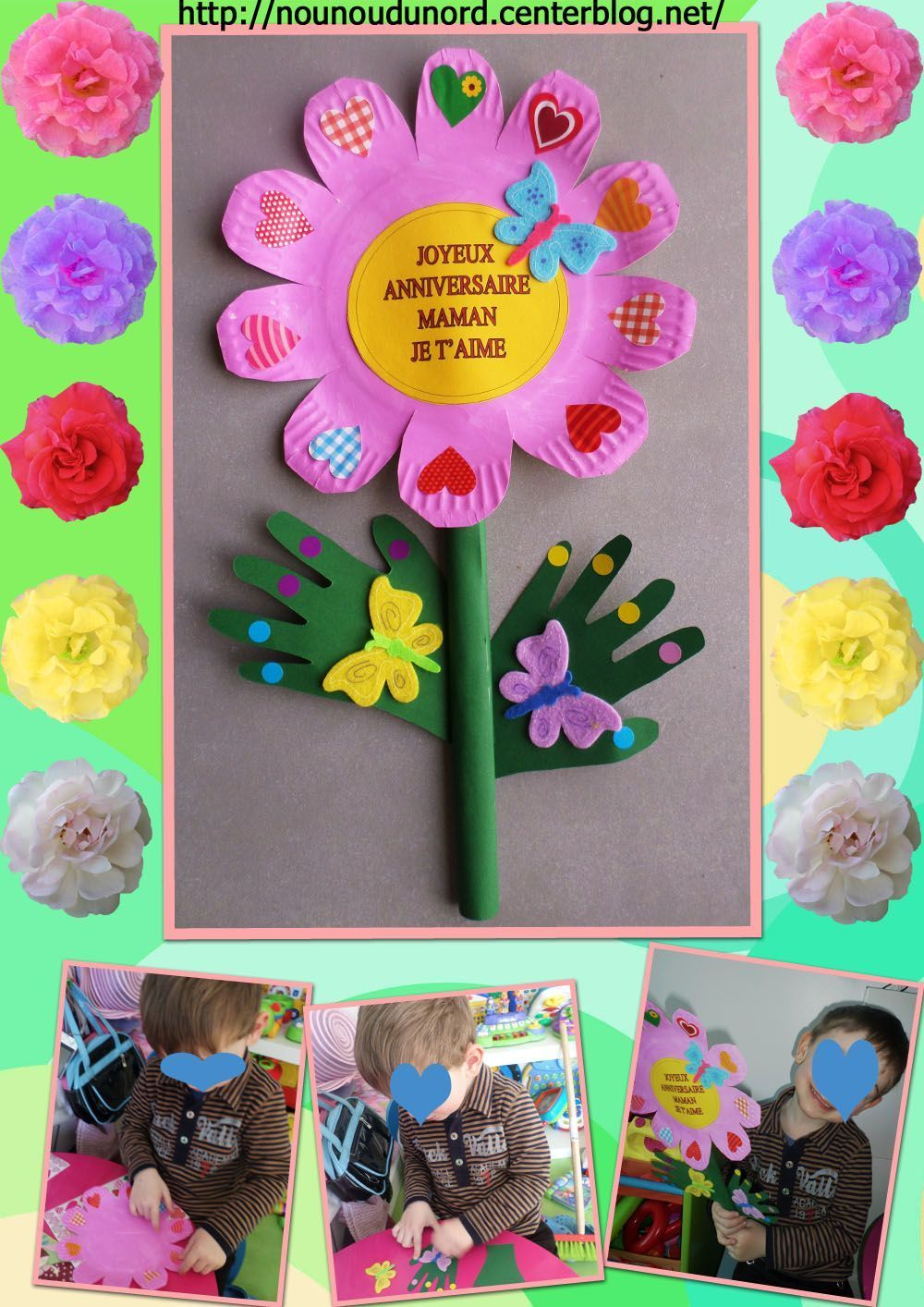 Activite anniversaire maman Bricolage printemps objets naturels idees