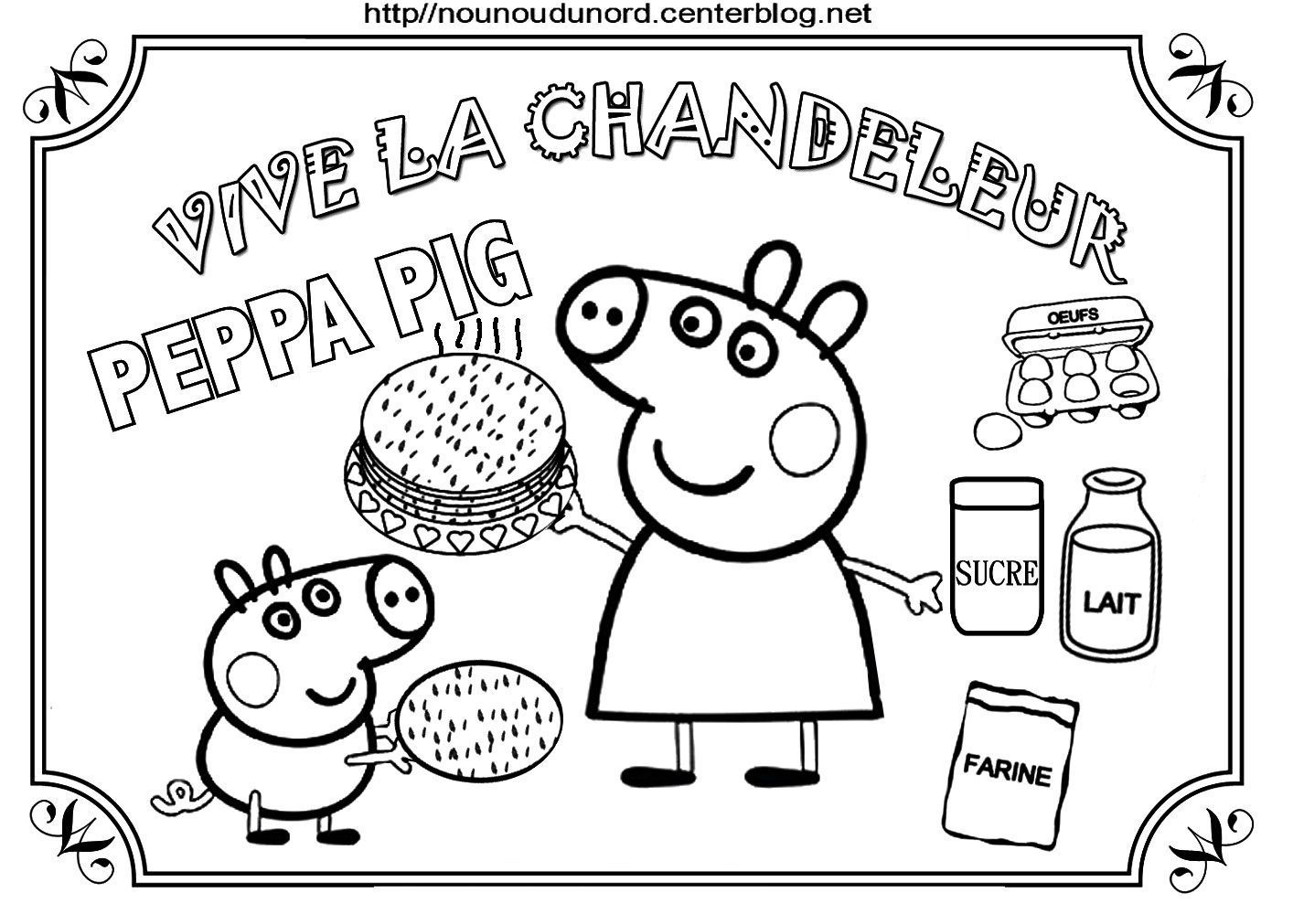 Coloriages crepes chandeleur - Dessin de peppa pig ...