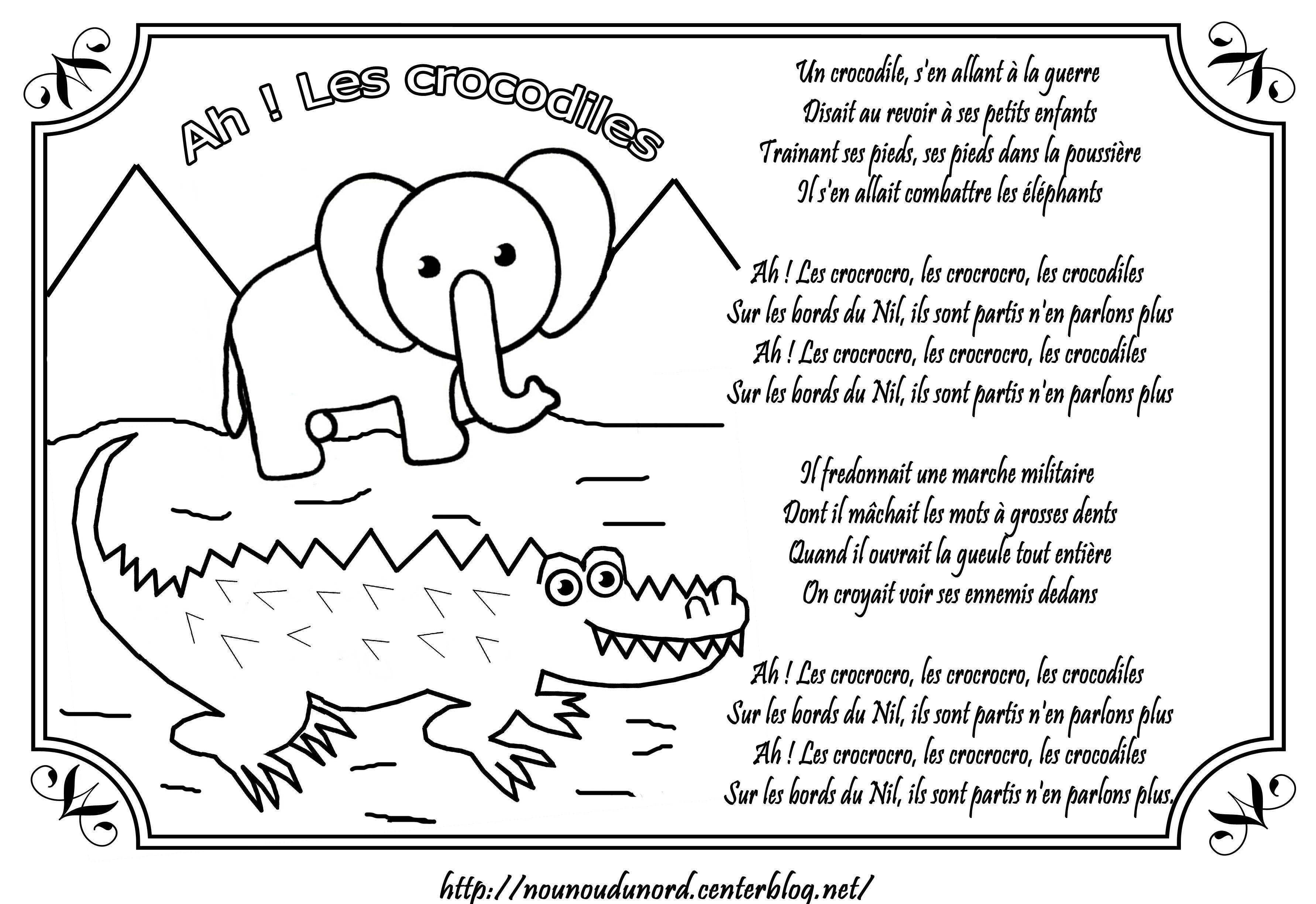 Comptine ah les crocodiles illustr e par nounoudunord - Dessin anime les crocodiles ...
