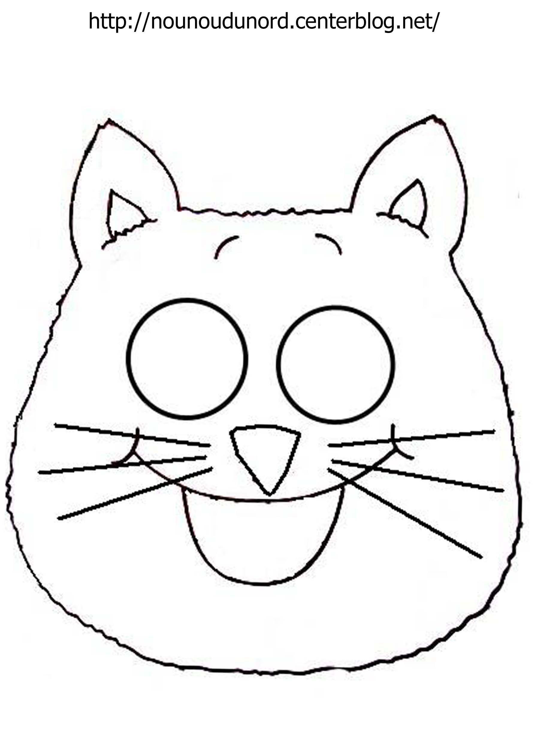Masque chat imprimer - Chat a imprimer ...