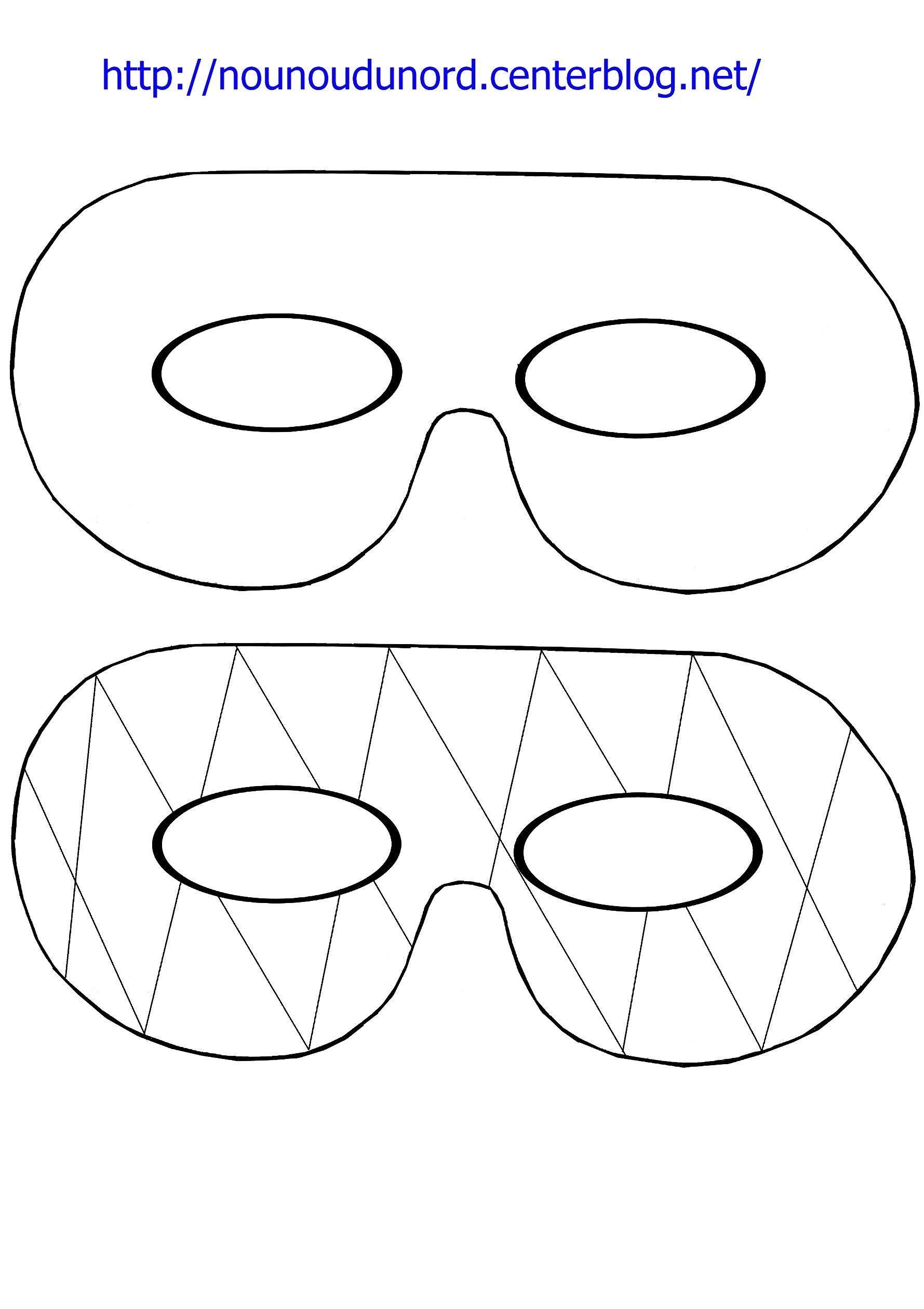 Masque simple et arlequin imprimer - Masque de carnaval a imprimer ...