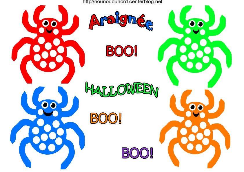 Coloriage Halloween Araignee