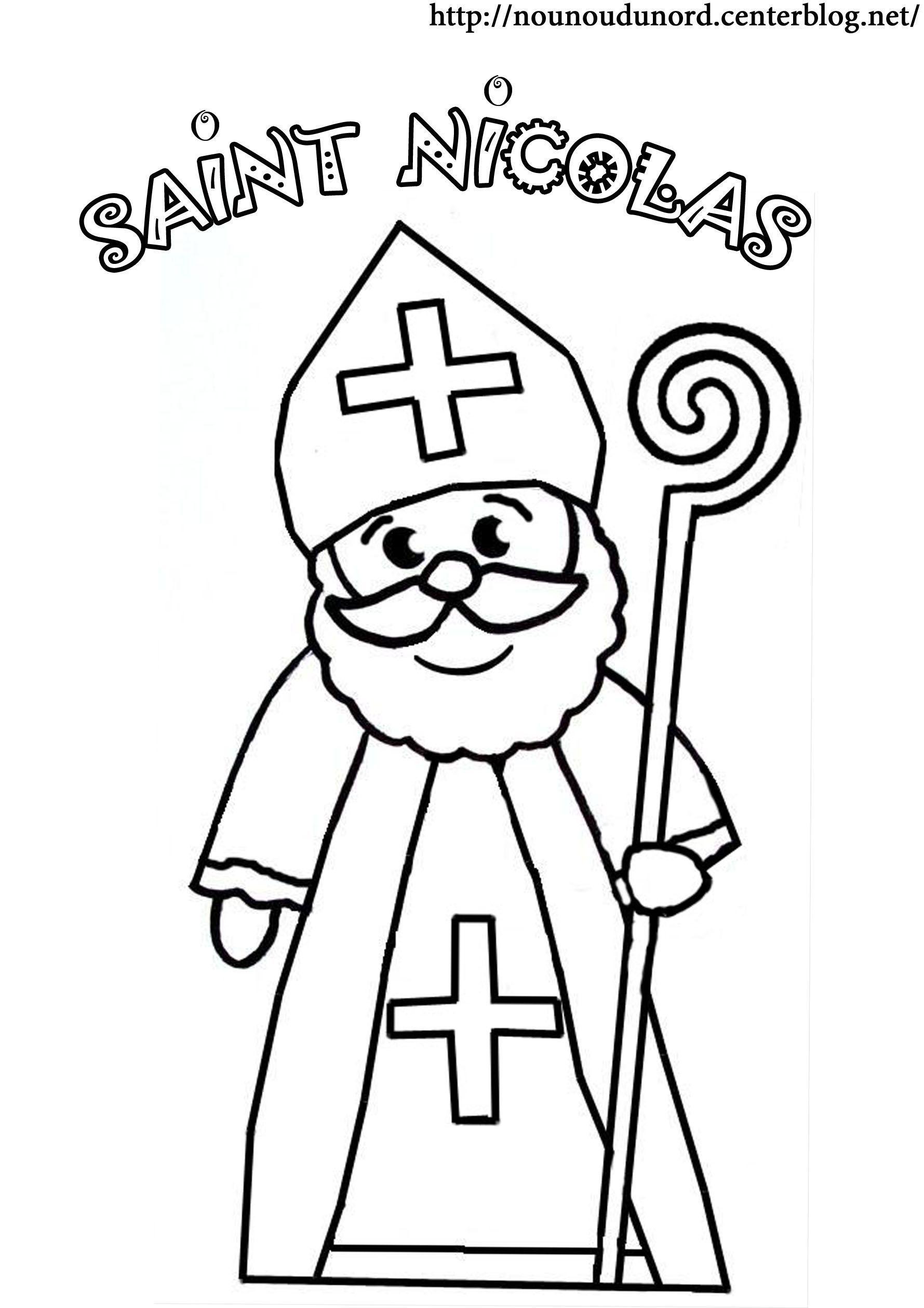 Coloriage saint nicolas - Image de saint nicolas a imprimer ...