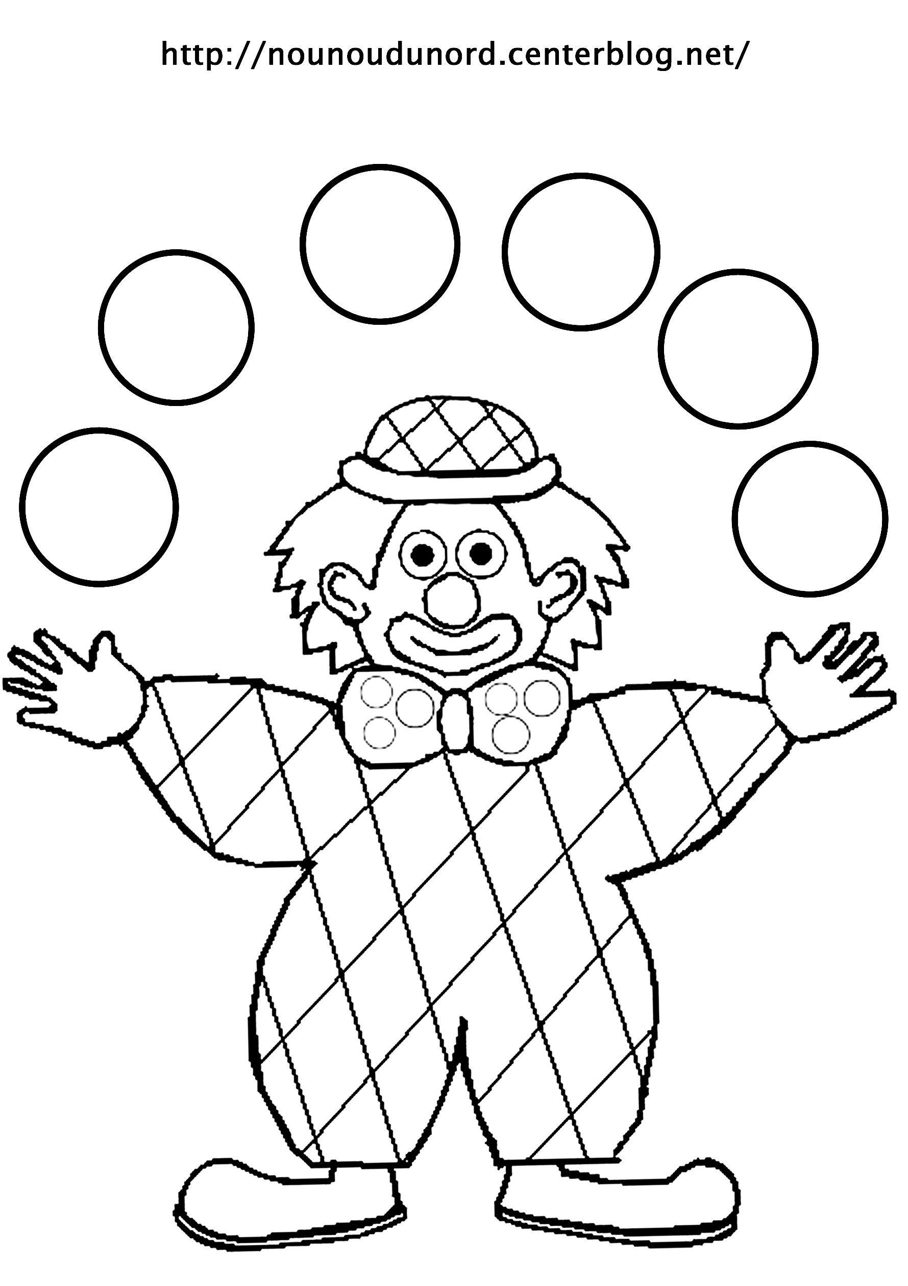 Coloriage clown page 2 - Nounoudunord coloriage ...