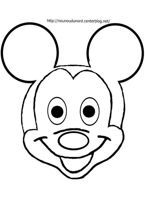 Coloriage mickey disney a imprimer - Coloriage tete mickey ...