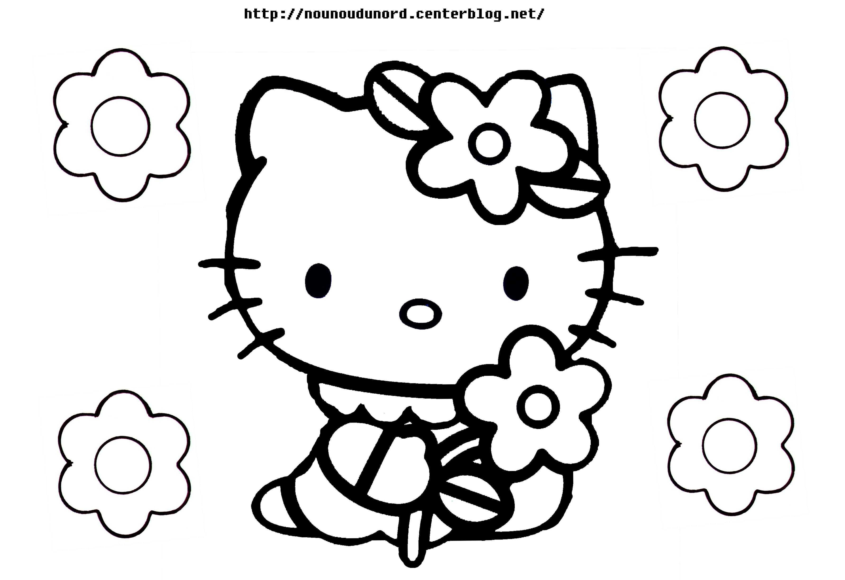 Coloriage hello kitty a imprimer - Hello kitty a imprimer ...