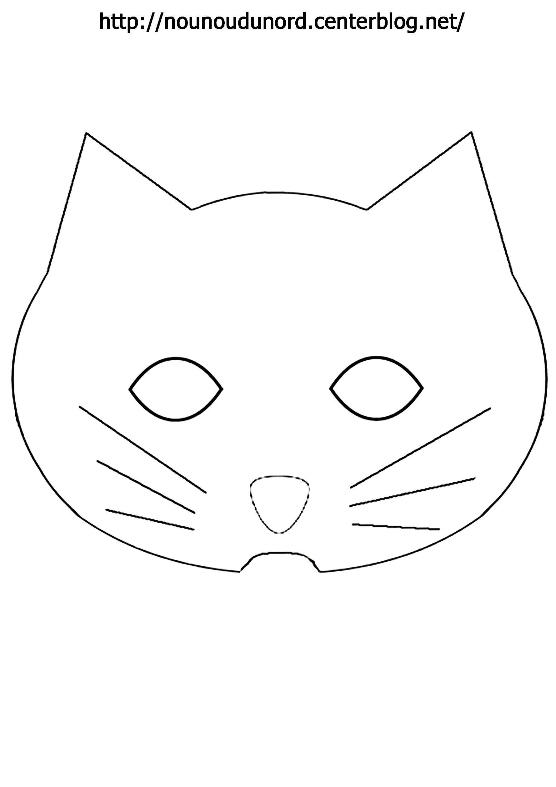 Masque chat imprimer - Masque de halloween a imprimer ...