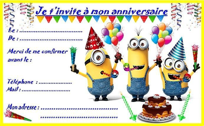 Modele Invitation Anniversaire Gratuit