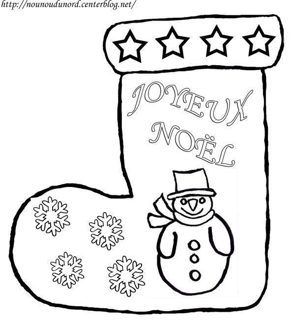 Dessin Botte De Noel.Botte De Noël Avec Bonhomme De Neige