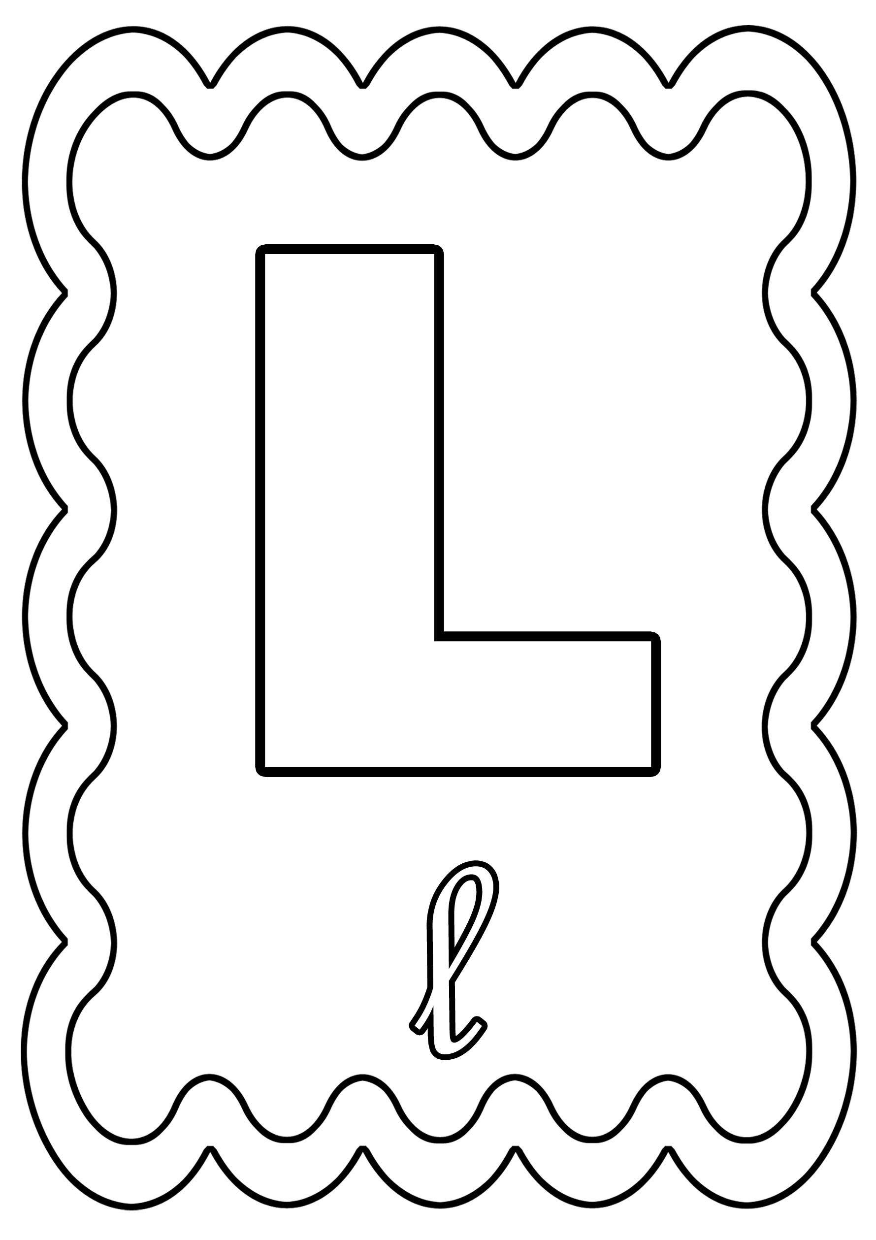 Coloriage alphabet lettre de a a z page 2 - Lettre a decouper ...