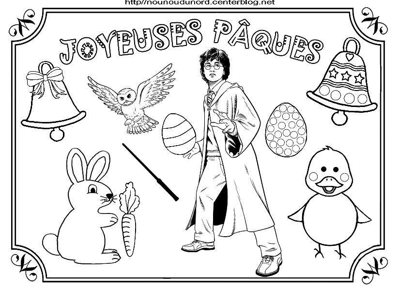 Coloriage paques heros des enfants - Coloriage harry potter a imprimer ...