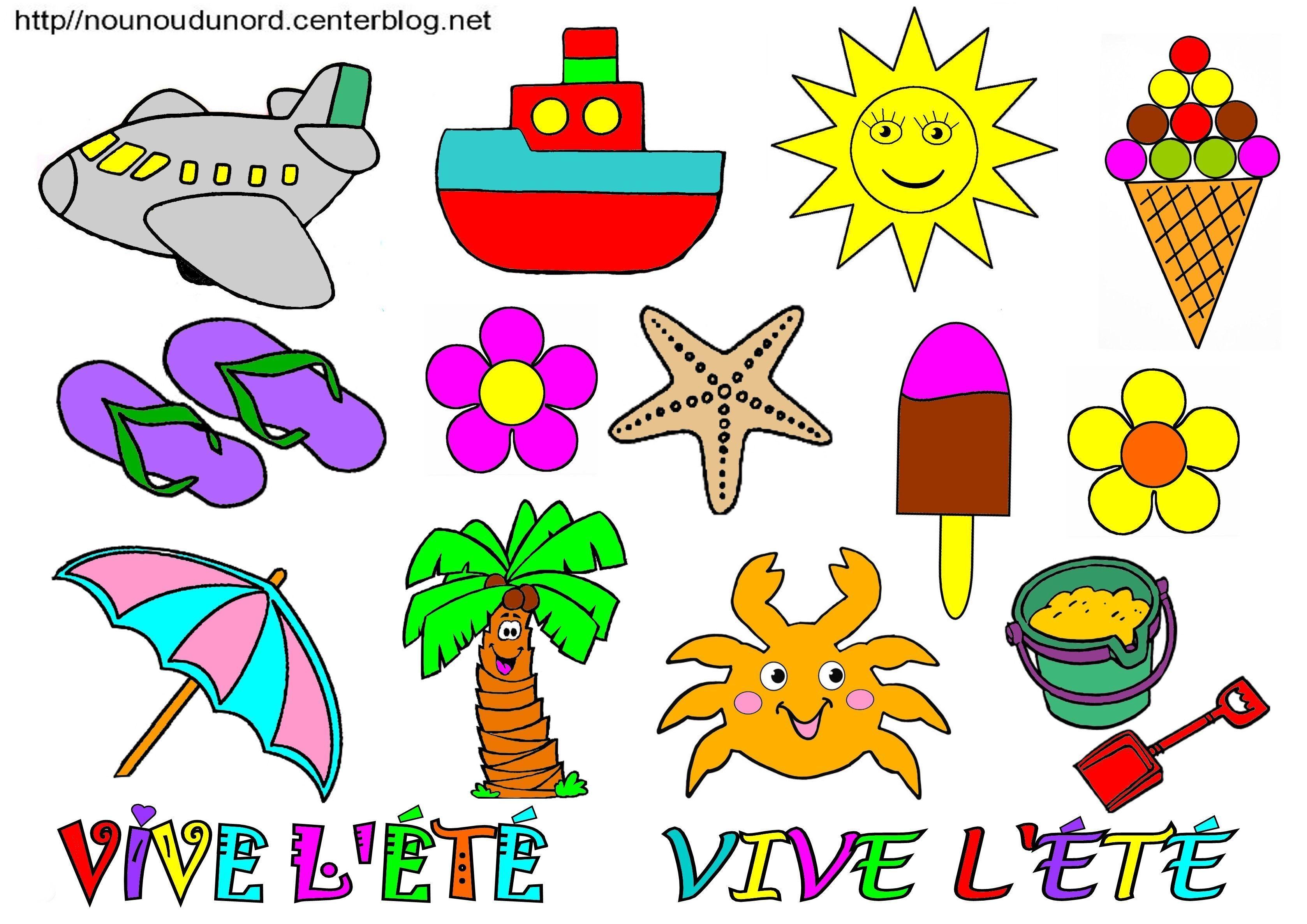 T colorier gommettes et en couleur - Les couleurs de l ete ...