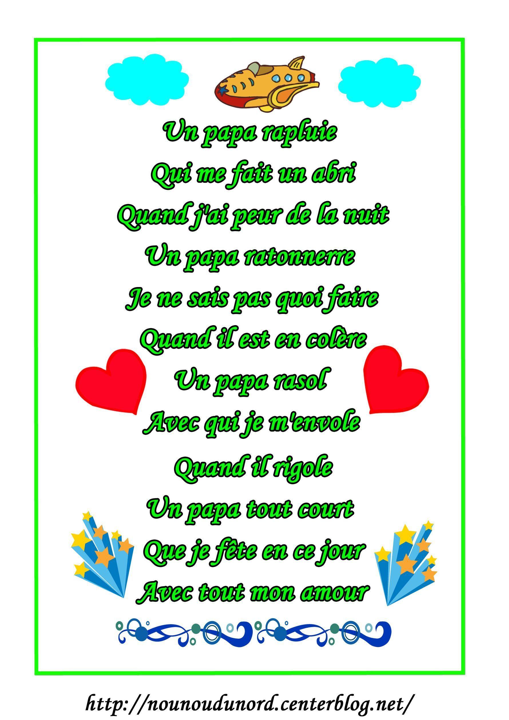 Poemes Fetes Des Peres Et Papi