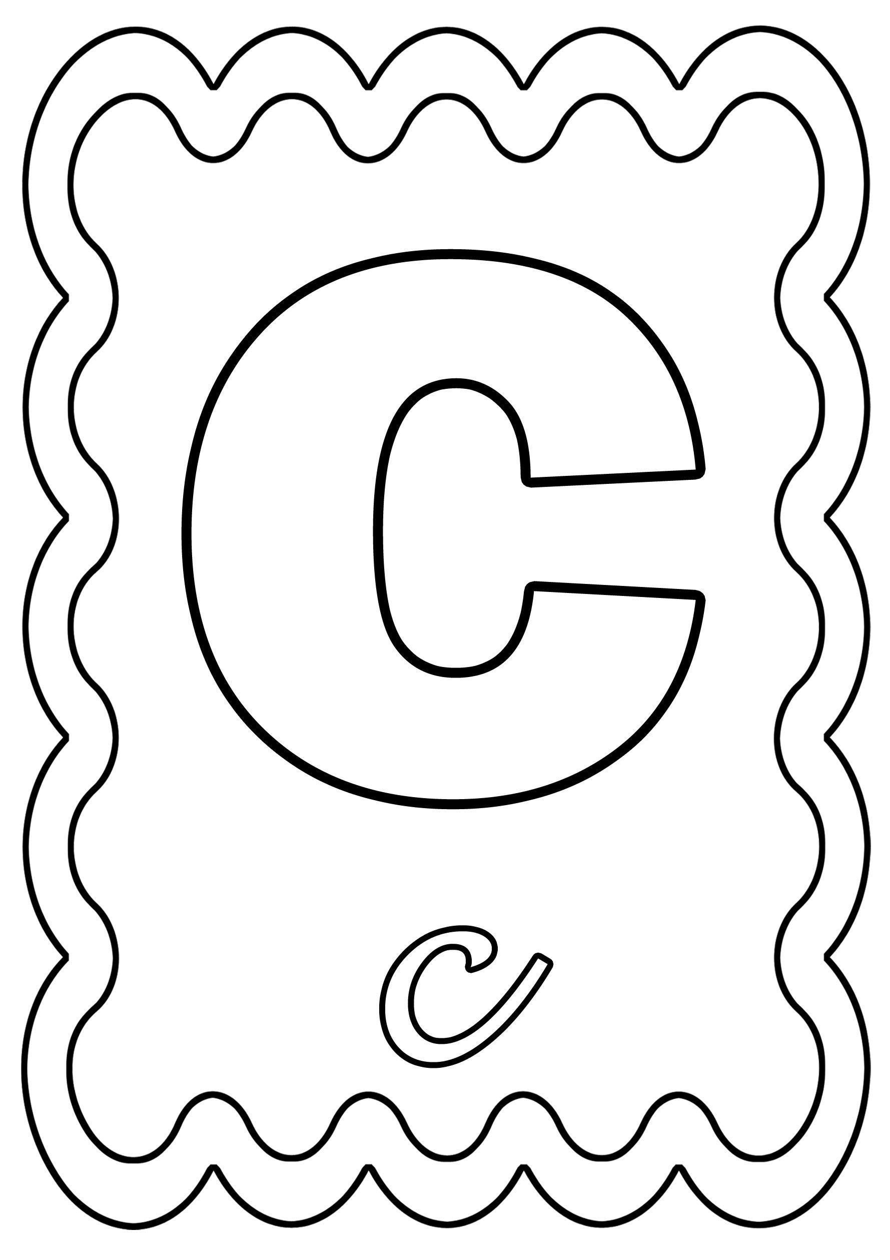 Coloriage alphabet lettre de a a z - Dessin colorier ...