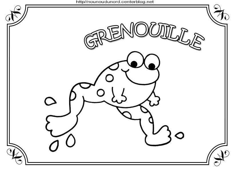 Grenouille coloriage gommettes en couleur - Coloriage de grenouille ...
