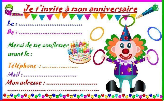 etiquettes et invitations clown jongleur pour anniversaire. Black Bedroom Furniture Sets. Home Design Ideas