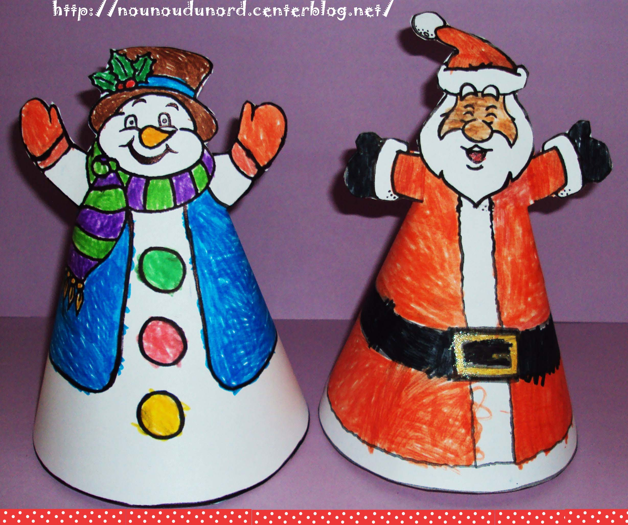 #0374C8 Père Noël Et Bonhomme De Neige Coloriés Par Lison 6333 décoration noel a fabriquer bonhomme de neige 2457x2053 px @ aertt.com