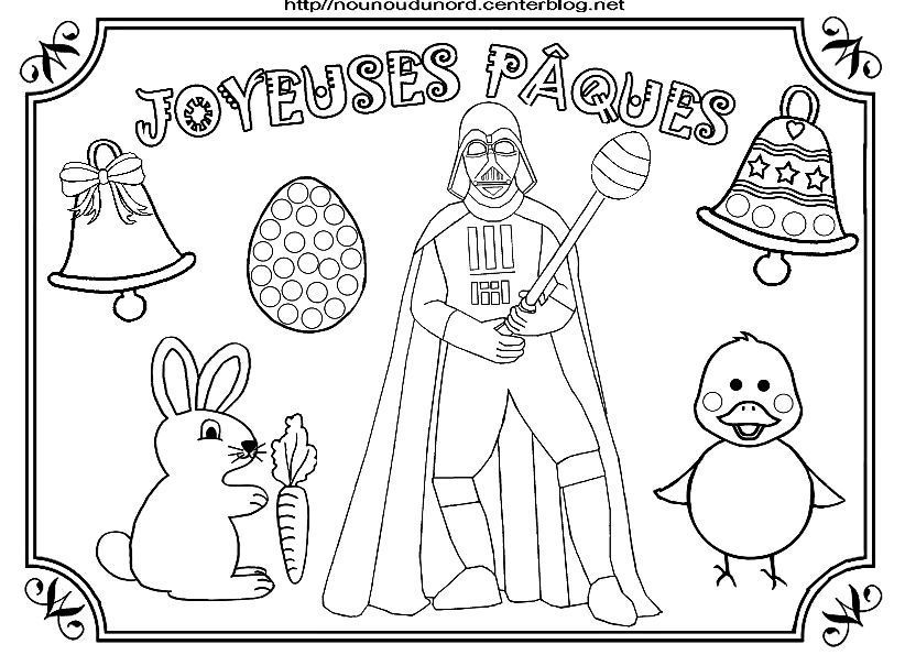 Star wars dark vador coloriage de p ques - Coloriage paques maternelle ...