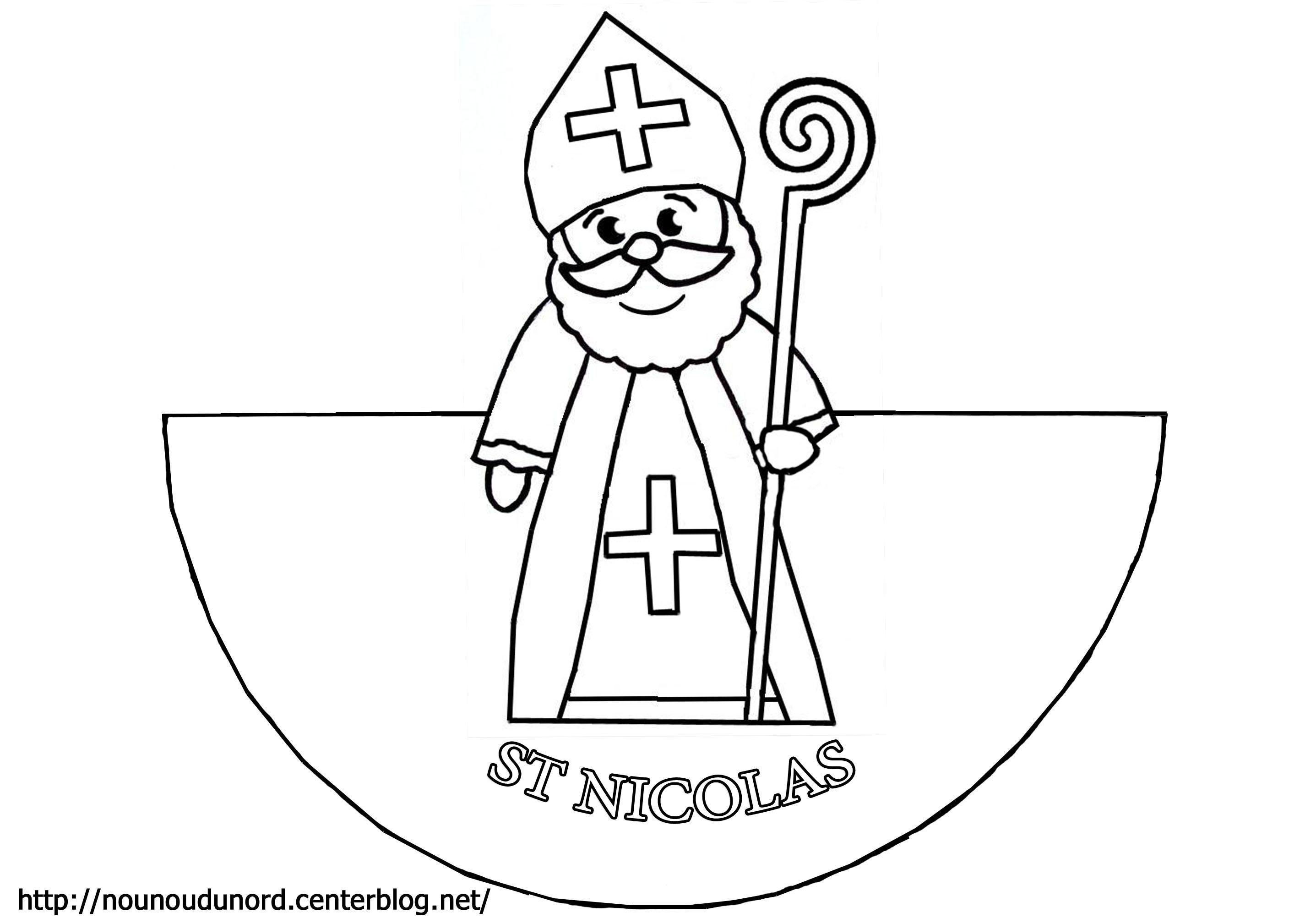 Coloriage saint nicolas - Saint nicolas dessin couleur ...