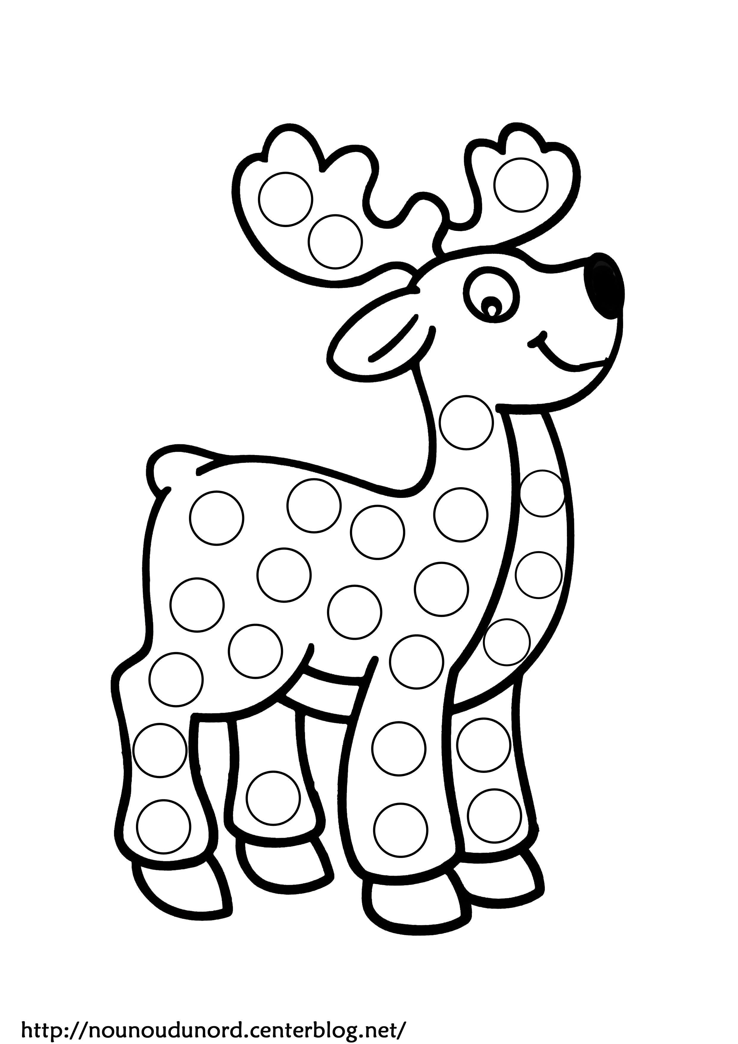 Coloriage noel a gommettes - Nounoudunord coloriage ...